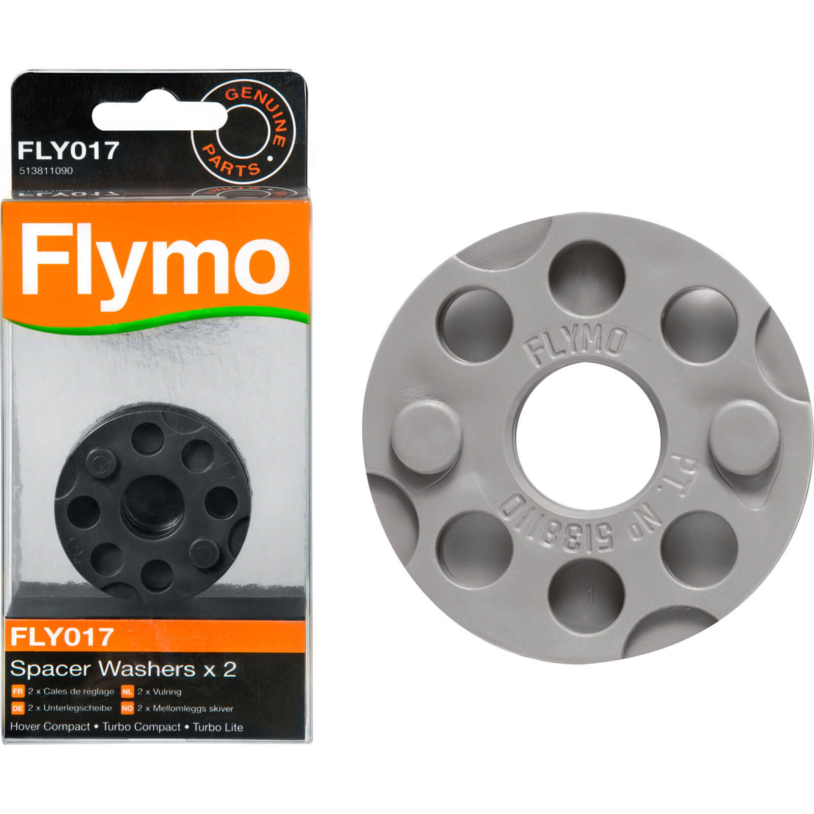 Flymo FLY017 Genuine Spacer Washers for Lawnmowers 2