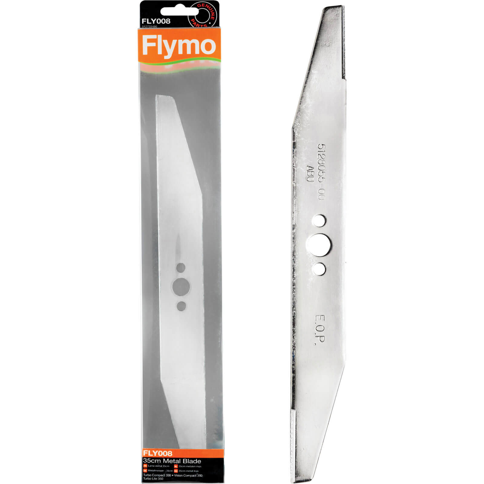 Flymo FLY008 Genuine Blade for TC350 TCV350 TL350 & VC350PLUS Lawnmowers 350mm Pack of 1