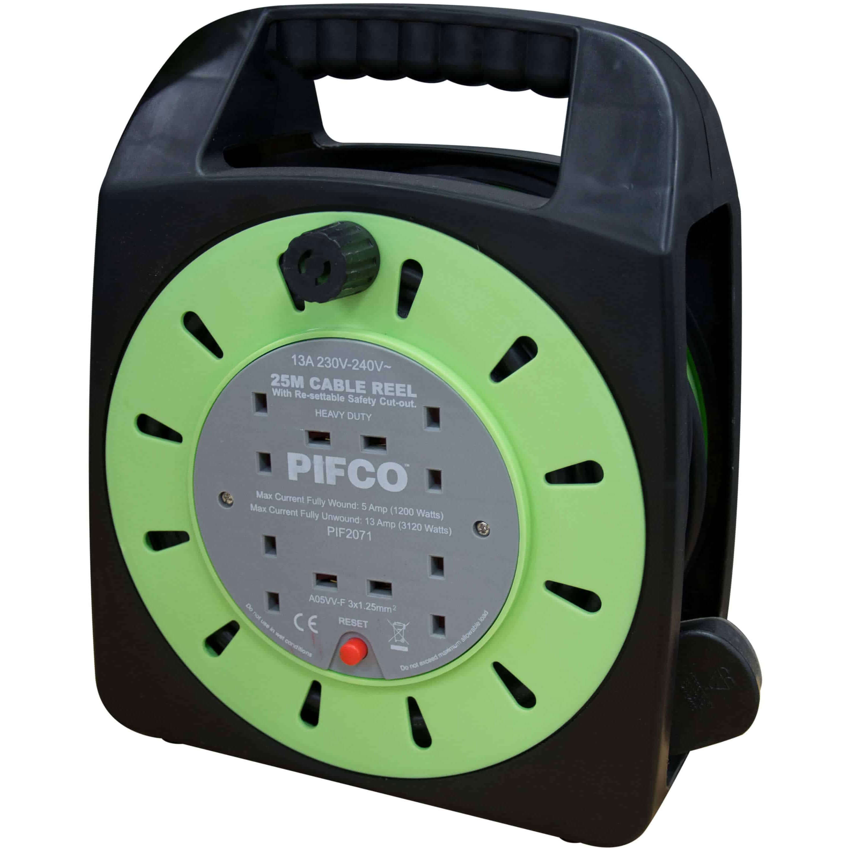 Image of Handy 2 Socket Cable Extension Reel 25m