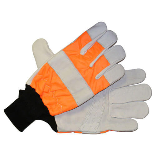 Image of Handy Chainsaw Gloves with One Hand Protection Orange M