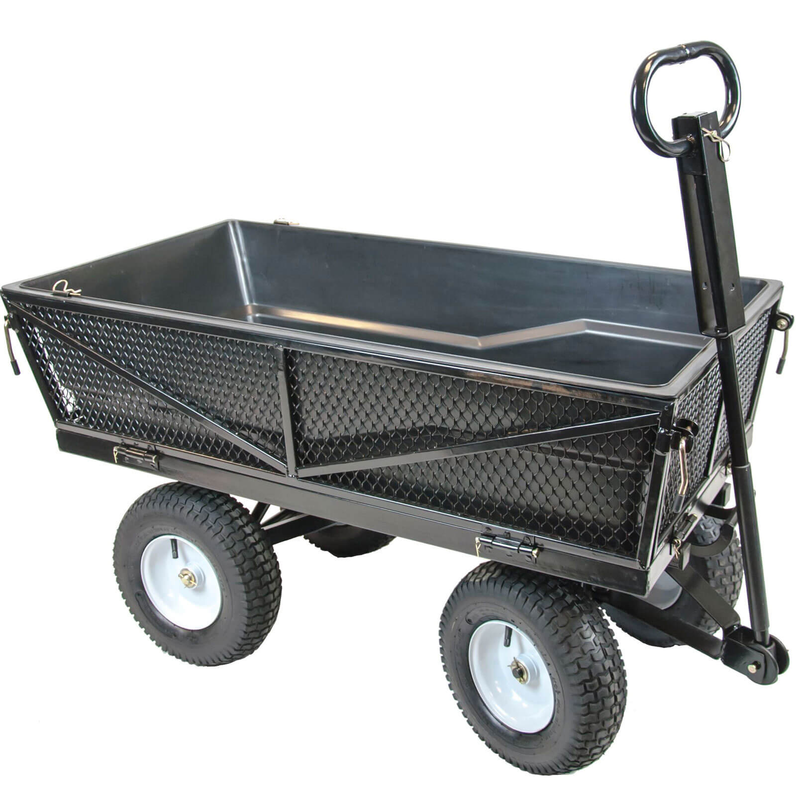 Image of Handy THMPC Multi Purpose Tipping Towable Garden Trolley 300kg
