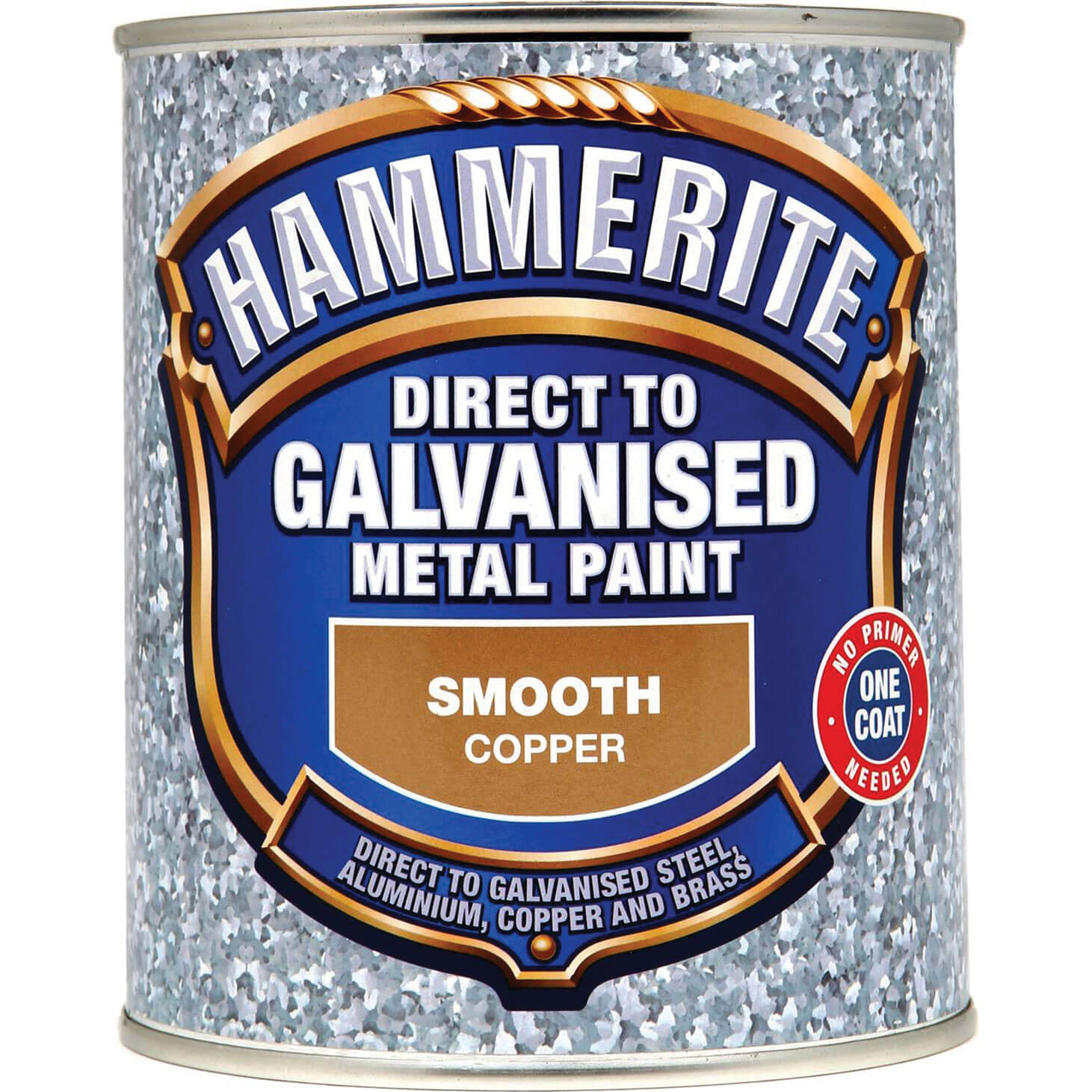 Image of Hammerite Direct to Galvanised Metal Paint Copper 750ml