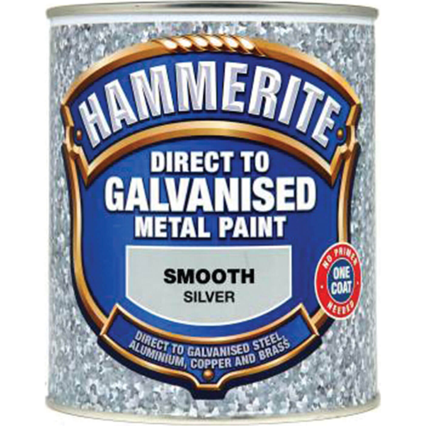 Image of Hammerite Direct to Galvanised Metal Paint Silver 750ml