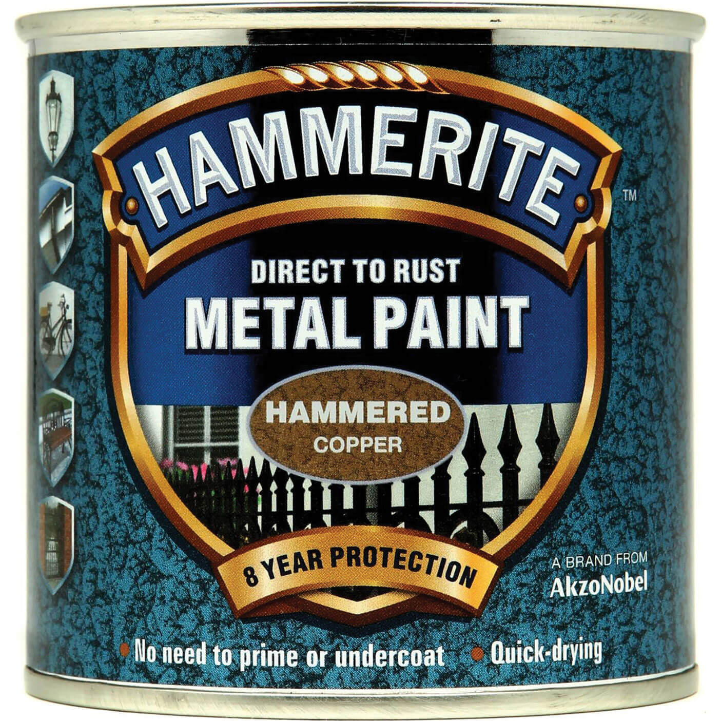 Image of Hammerite Hammered Finish Metal Paint Copper 250ml