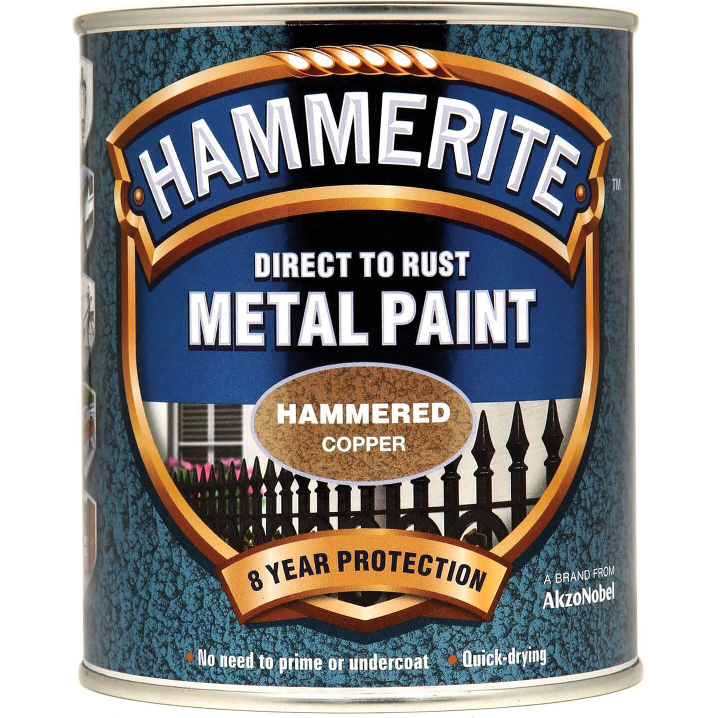 Image of Hammerite Hammered Finish Metal Paint Copper 750ml