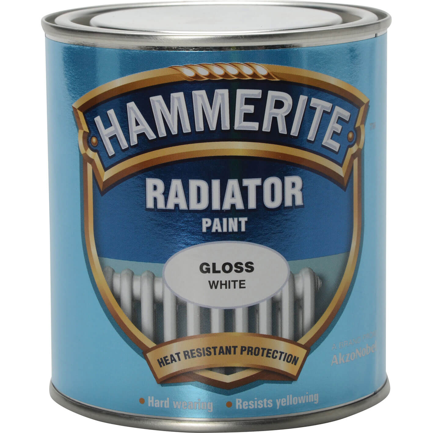 Image of Hammerite Radiator Enamel Paint Gloss White 500ml