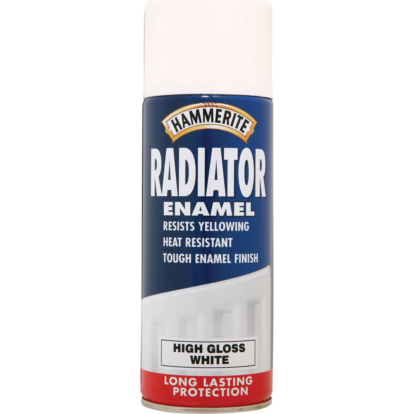 Image of Hammerite Radiator Enamel Aerosol Paint Gloss White 400ml