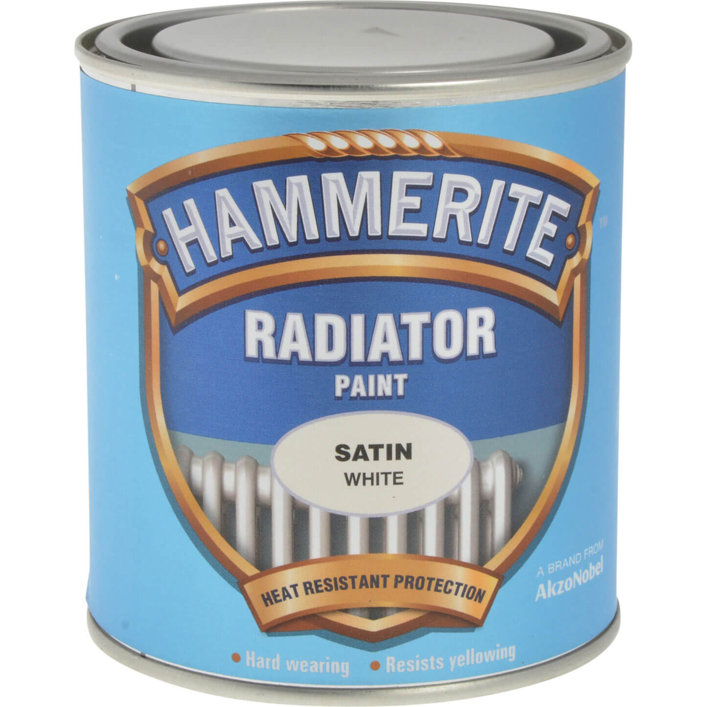 Image of Hammerite Radiator Enamel Paint Satin White 500ml