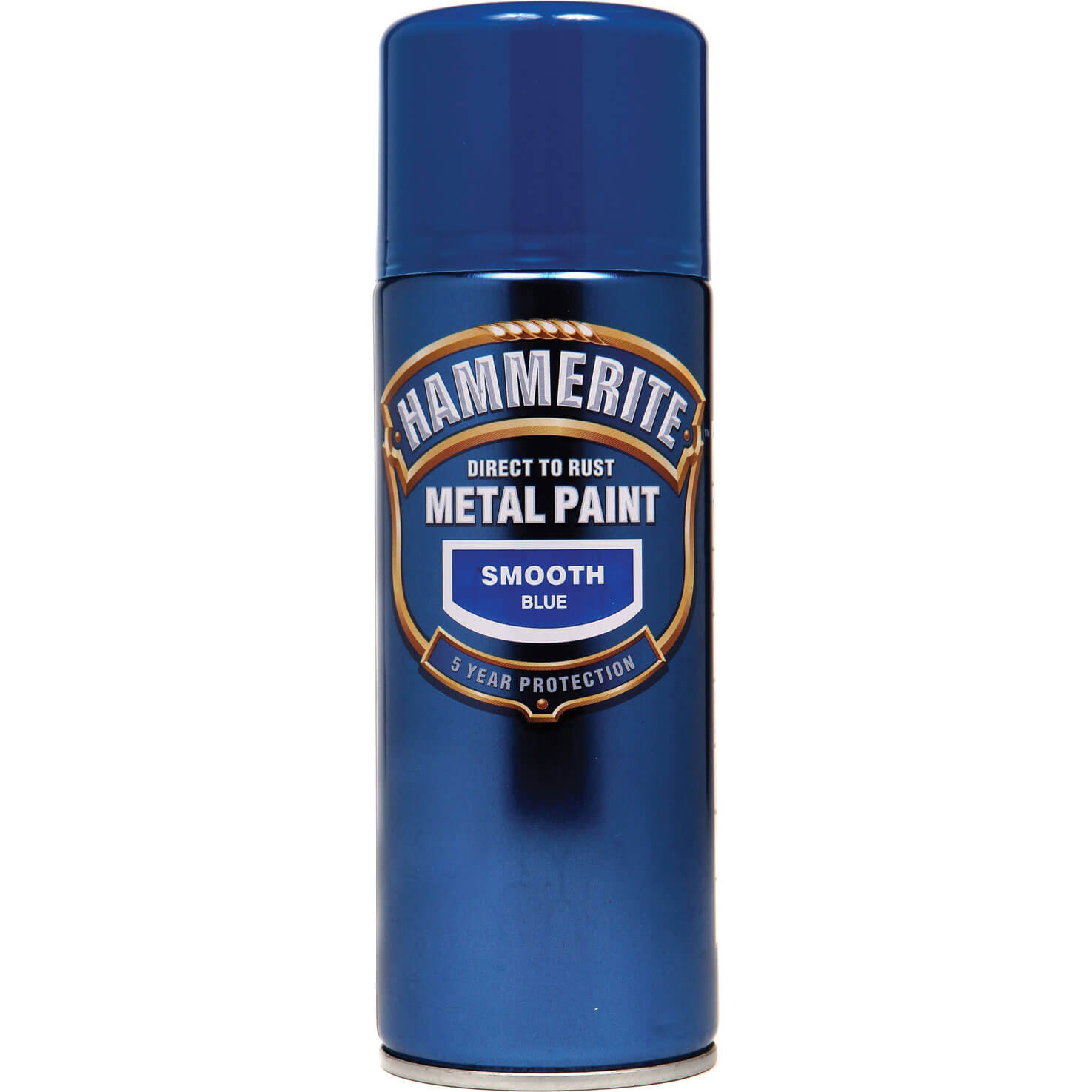 Image of Hammerite Smooth Finish Aerosol Metal Paint Blue 400ml
