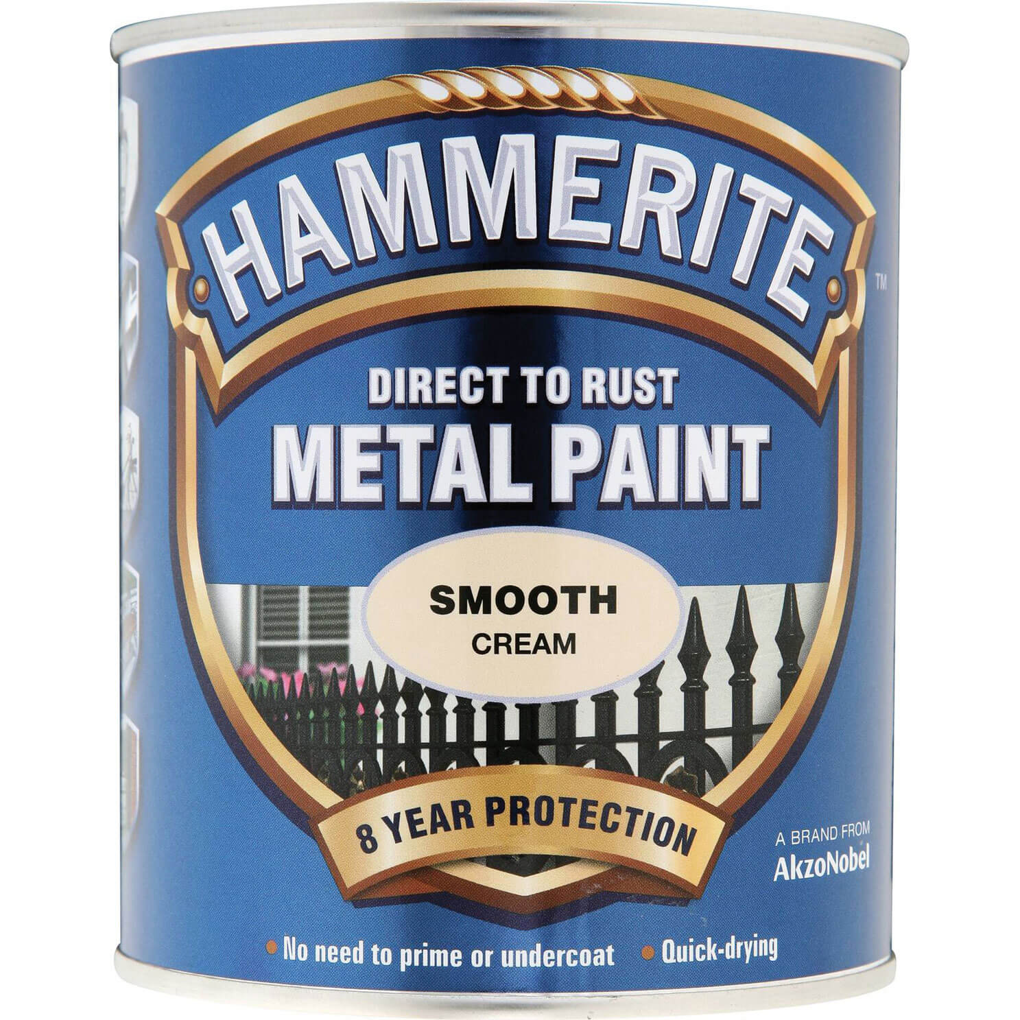 Image of Hammerite Smooth Finish Metal Paint Cream 750ml