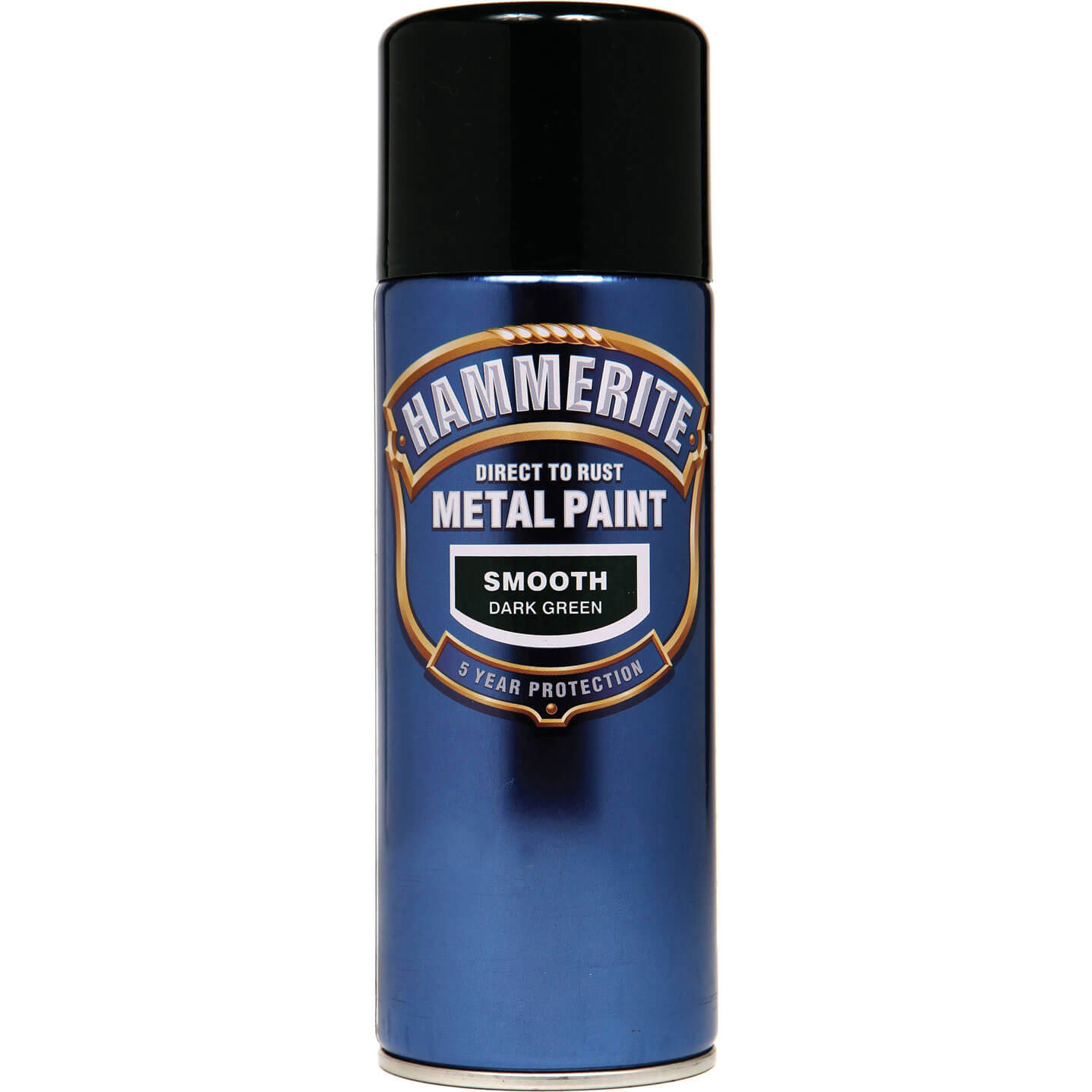 Image of Hammerite Smooth Finish Aerosol Metal Paint Dark Green 400ml