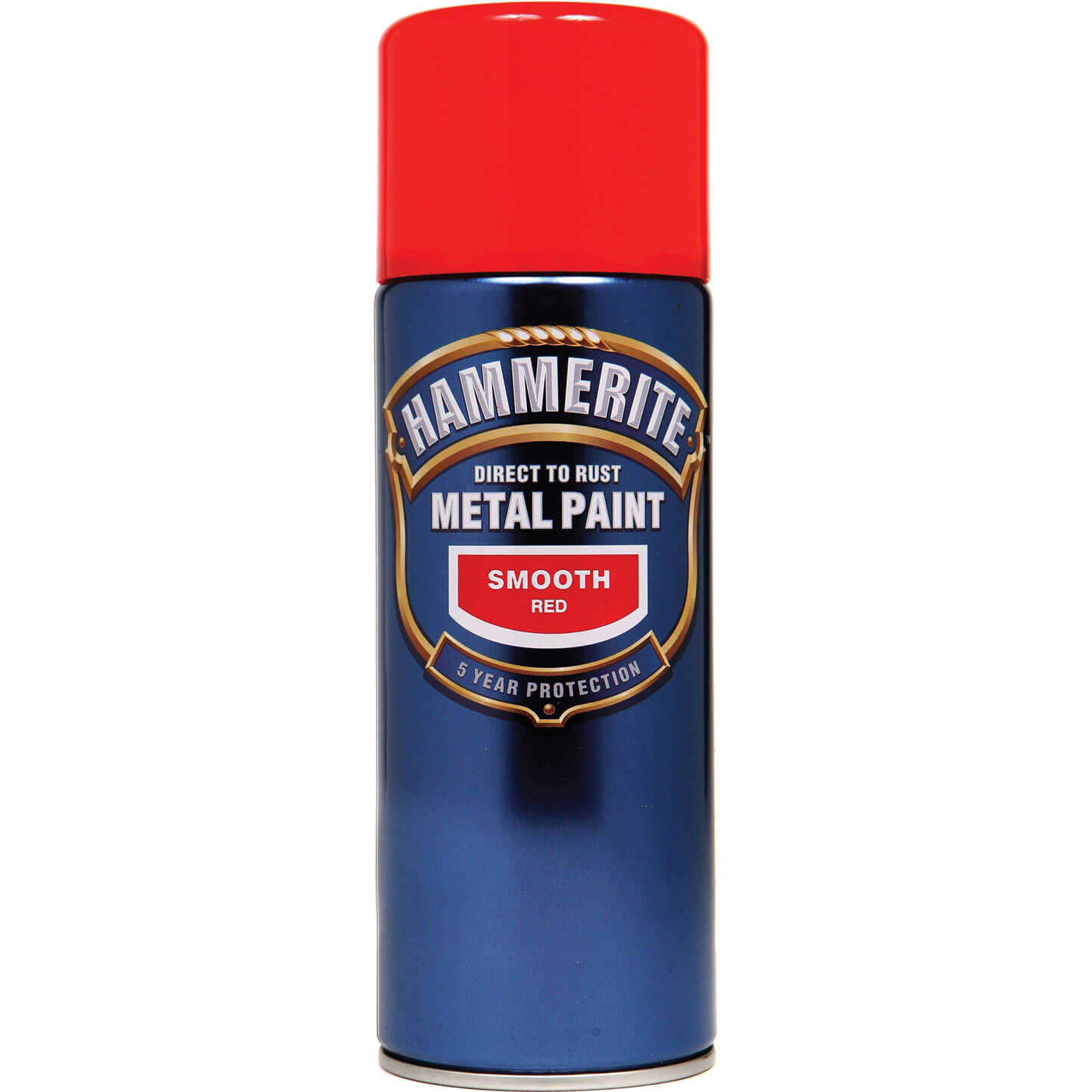 Image of Hammerite Smooth Finish Aerosol Metal Paint Red 400ml