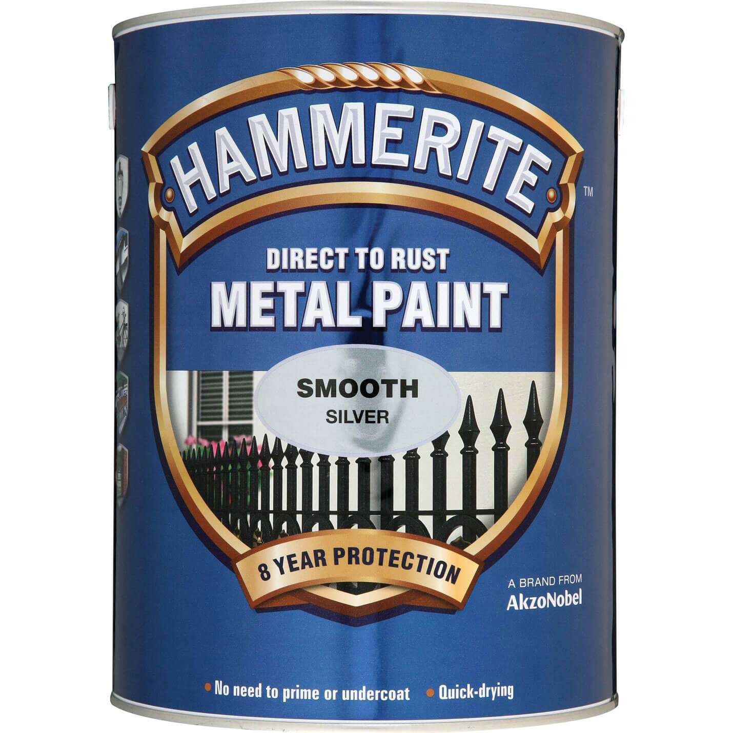 Image of Hammerite Smooth Finish Metal Paint Dark Green 250ml
