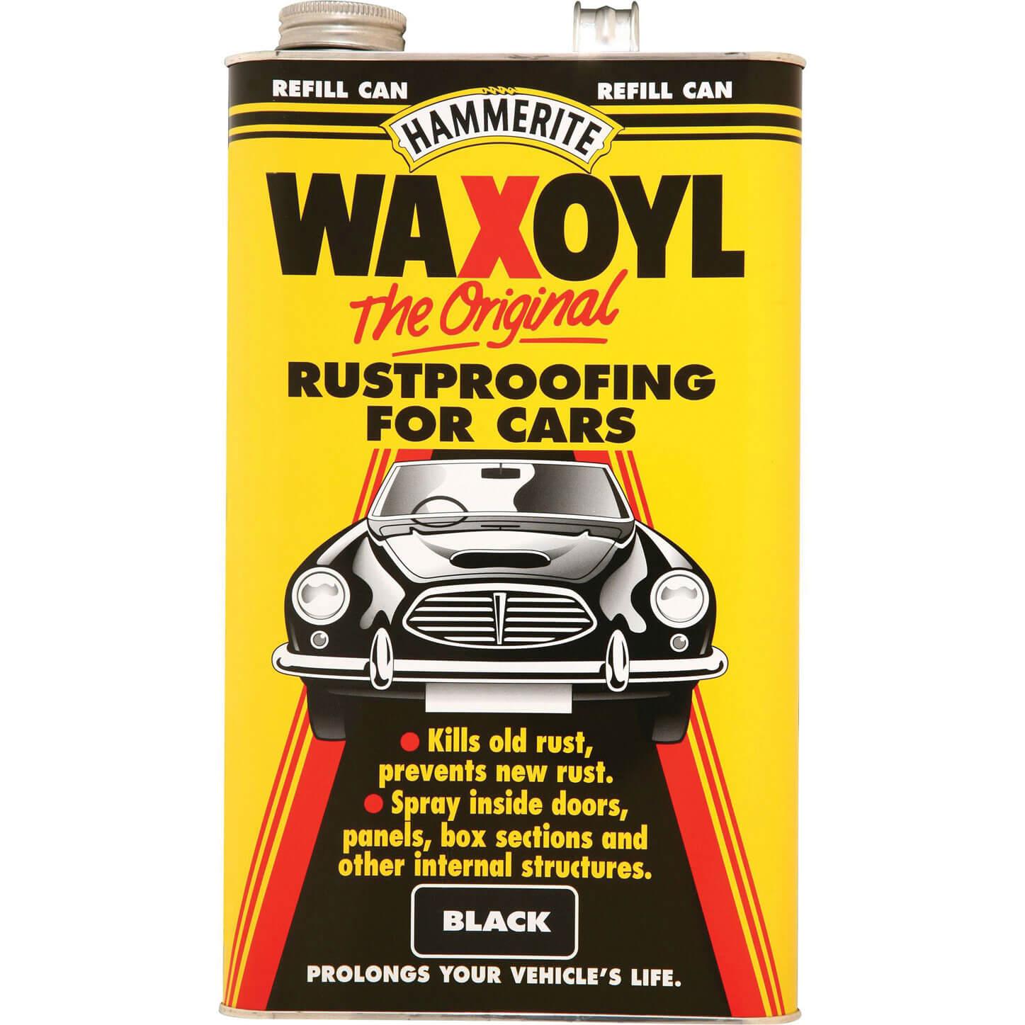 Image of Hammerite Waxoyl Refill Can Black 5l