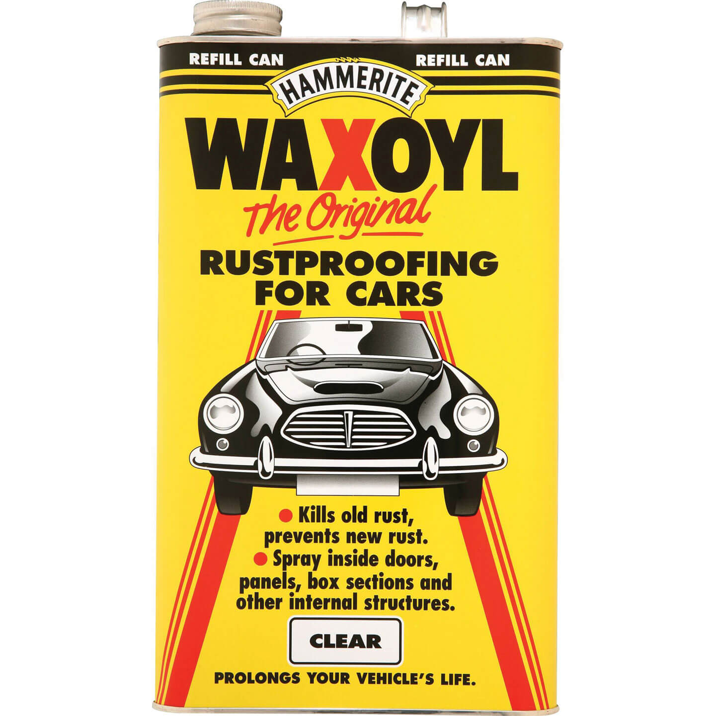 Image of Hammerite Waxoyl Refill Can Clear 5l
