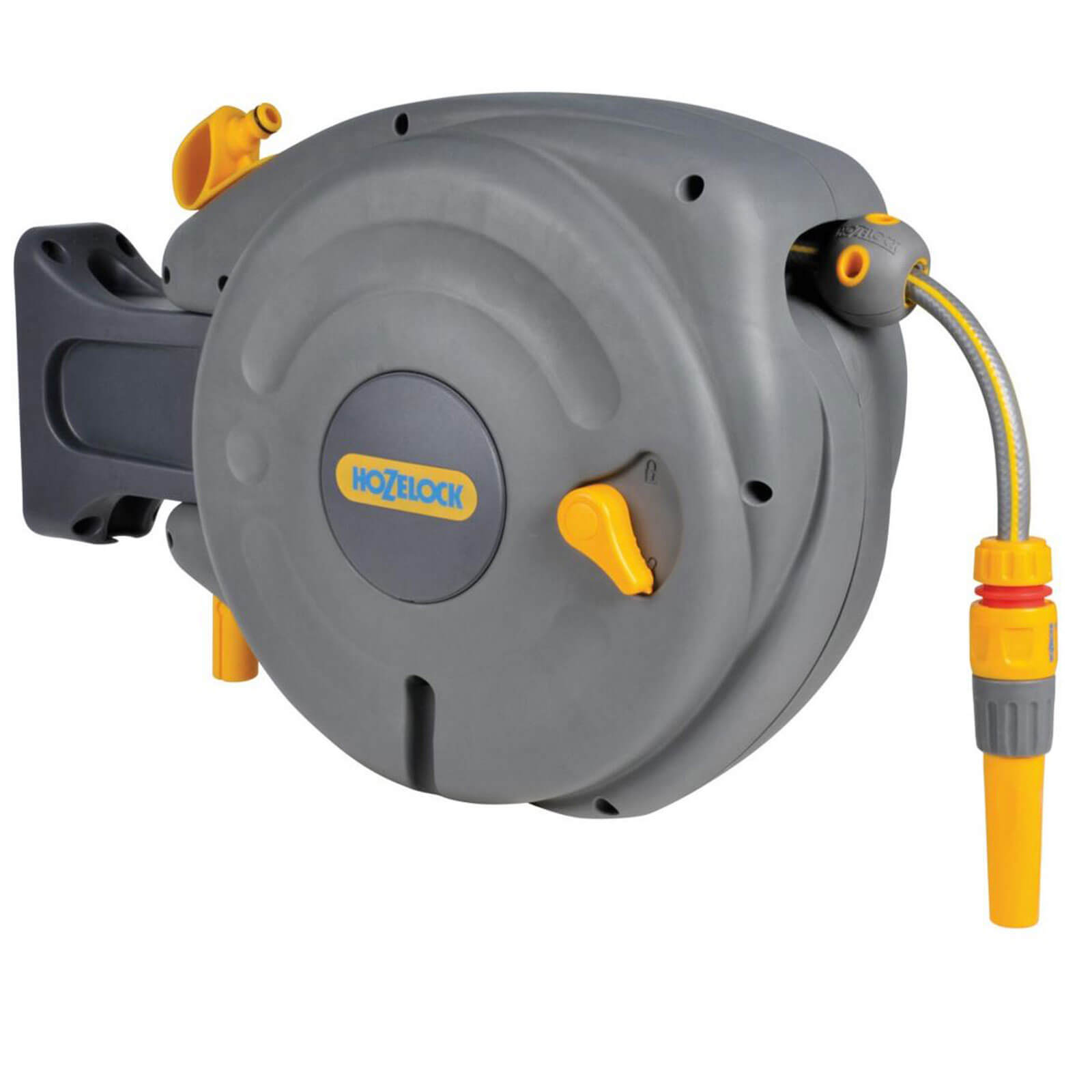 Hozelock 10m Mini Wall Mounted Auto Hose Reel with 10m Hose Pipe