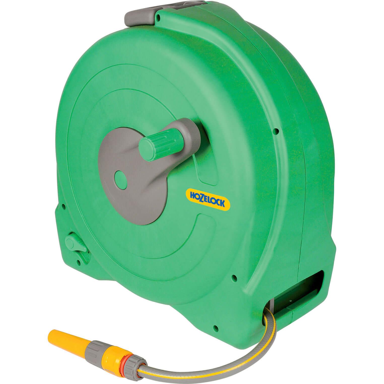Hozelock Floor Standing Fast Hose Reel 12  12.5mm 40m Green & Yellow