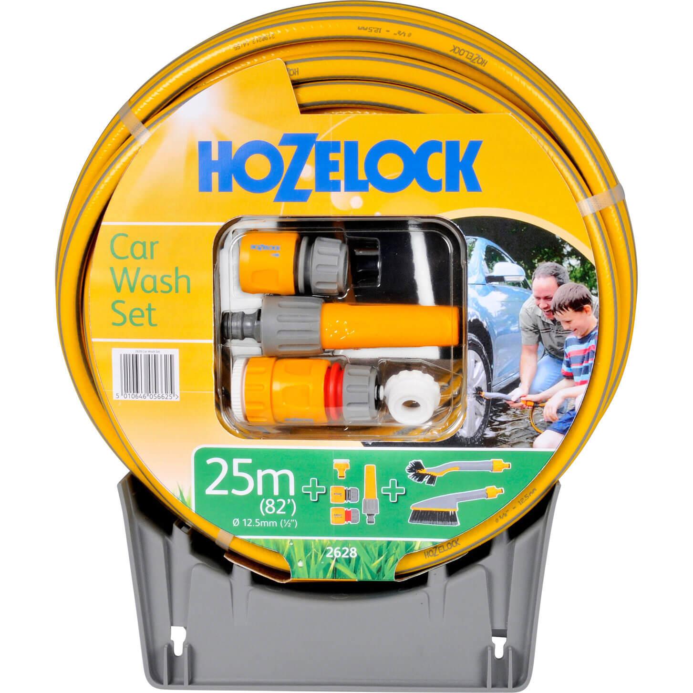 Image of Hozelock Car Washing Brush & Hose Set