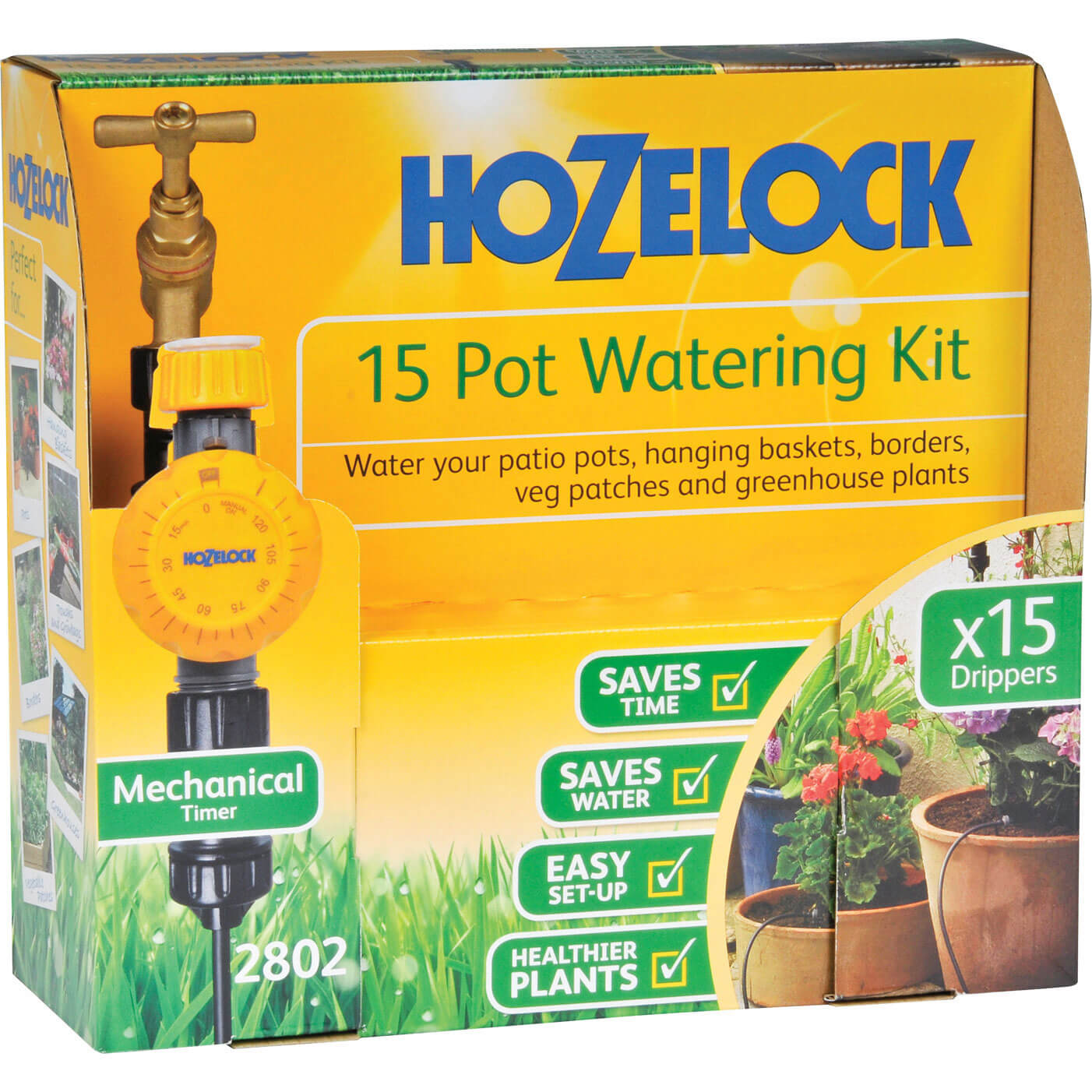 Hozelock CLASSIC MICRO 15 Pot Garden Watering System & Timer