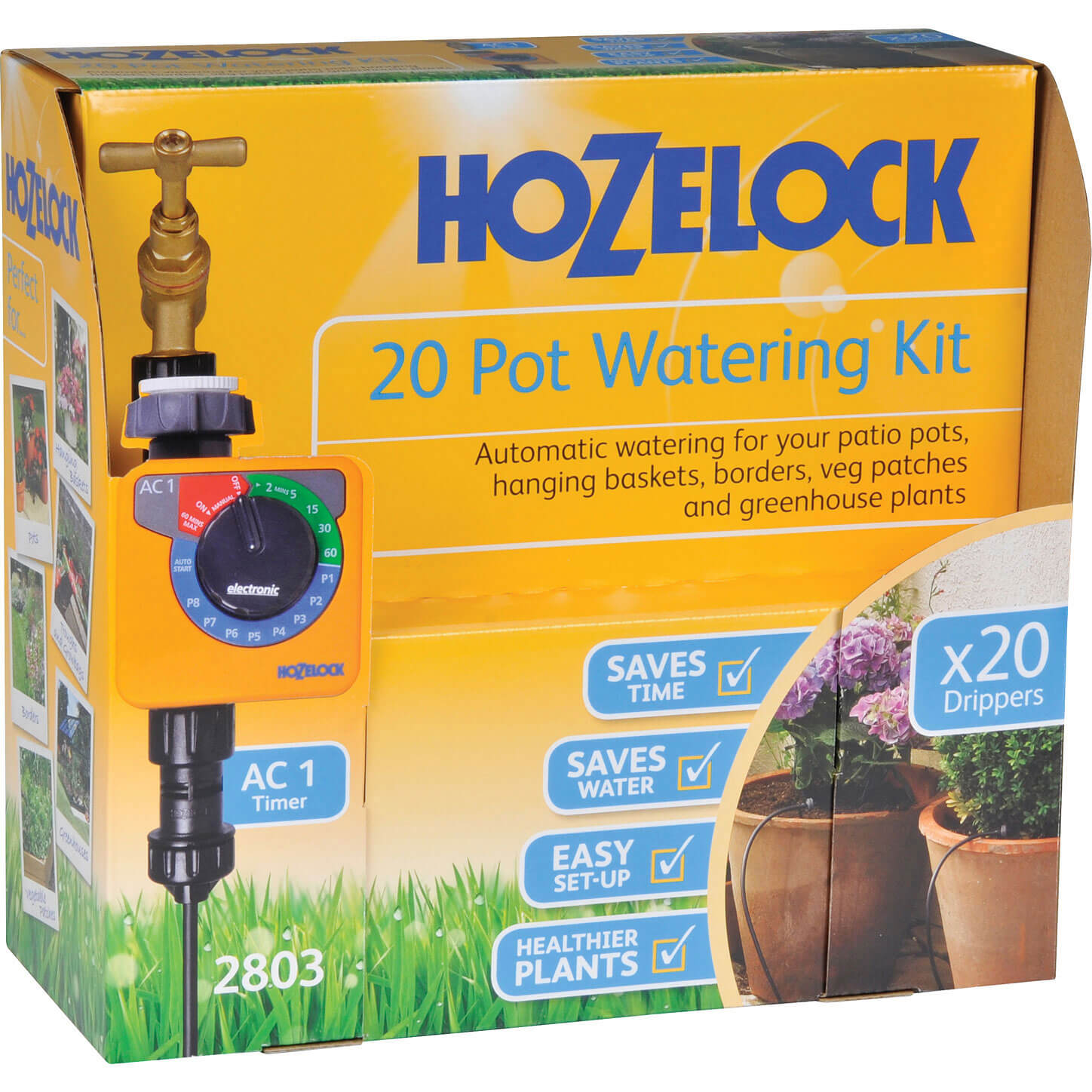 Hozelock CLASSIC MICRO 20 Pot Garden Watering System & Digital Timer