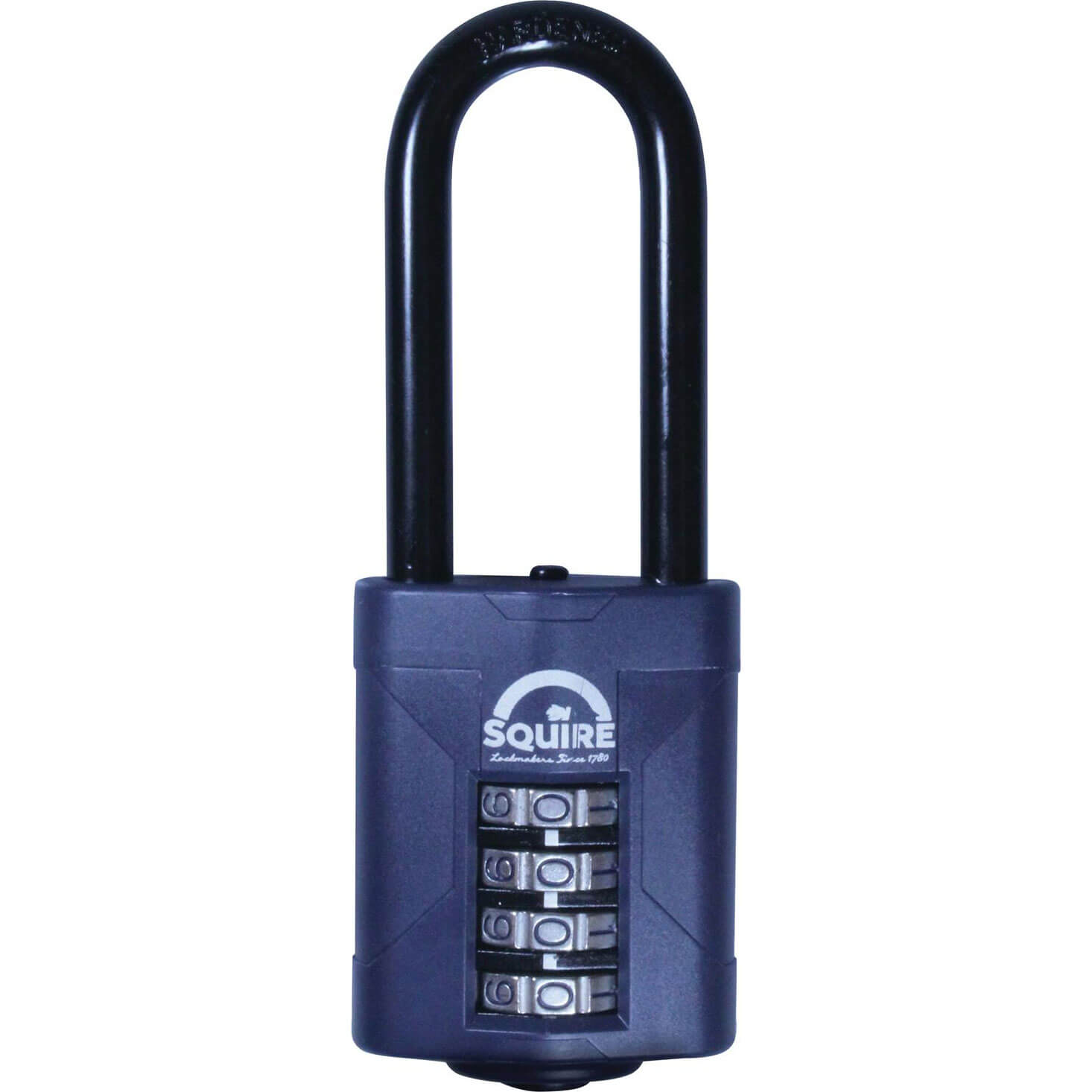 Image of Henry Squire Push Button Combination Padlock 50mm Extra Long