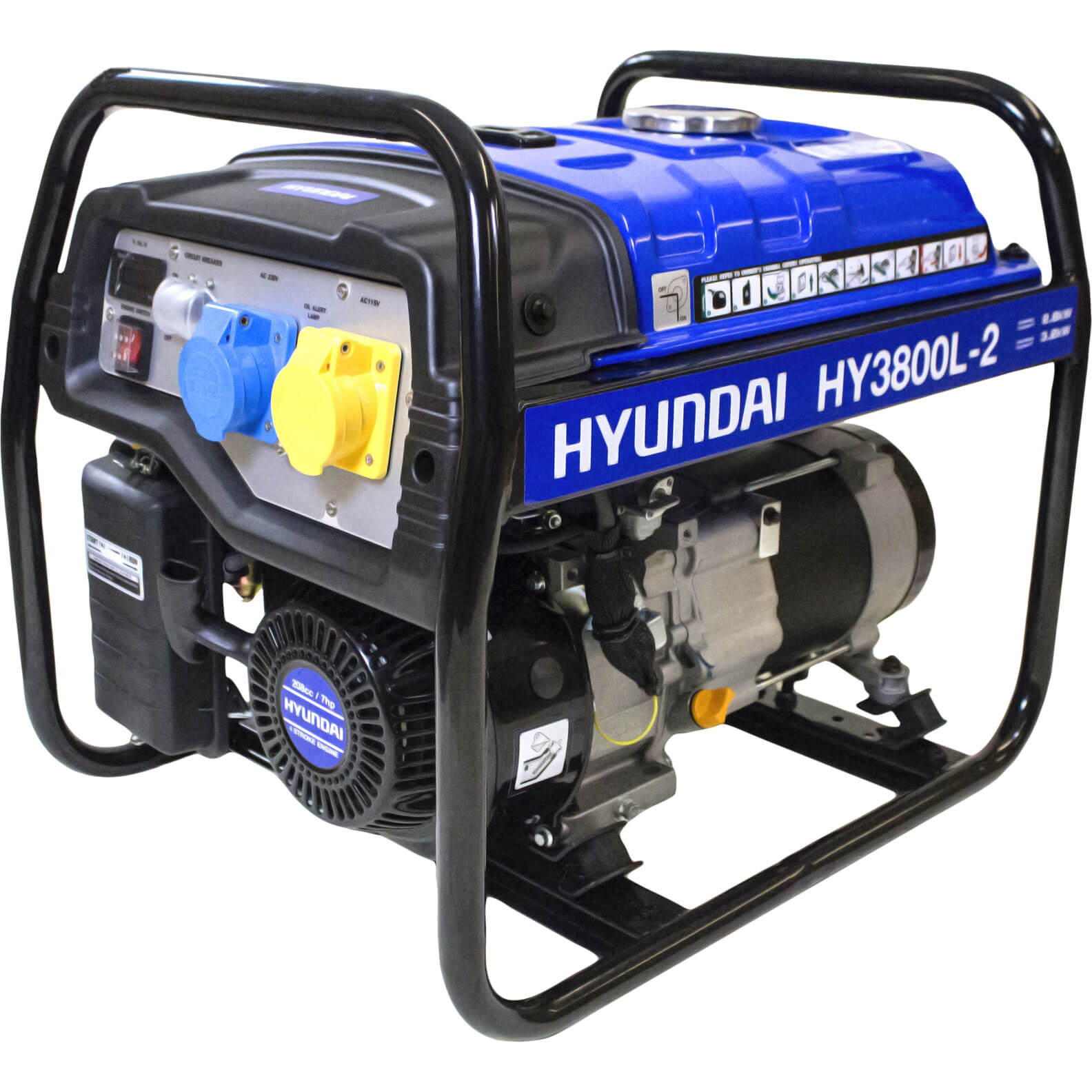 Image of Hyundai 3.2 Kw / 4.0 Kva Generator Recoil Start