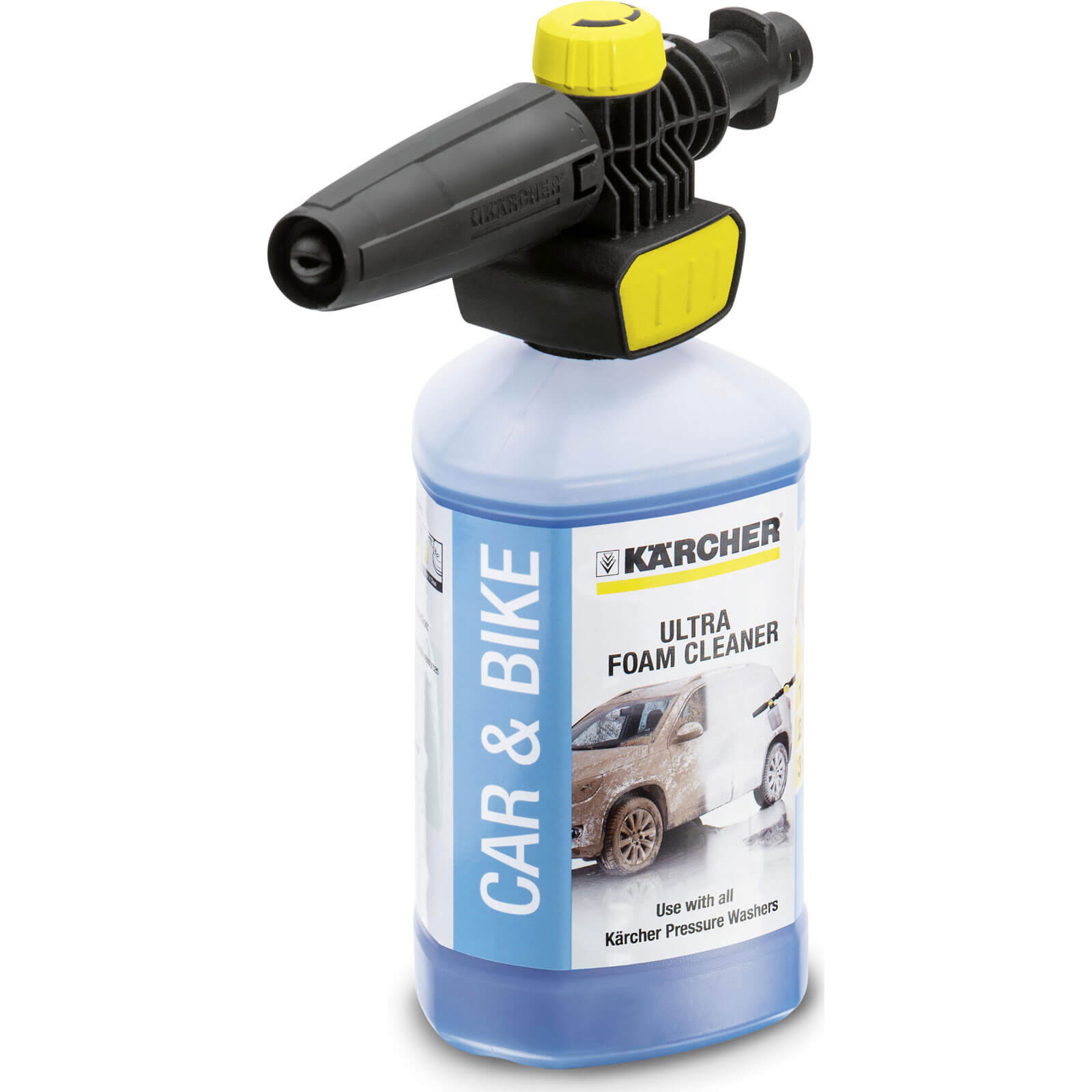 Karcher Plug n Clean Foam Nozzle with Ultra Foam Cleaner for K Series Pressure Washers 1l