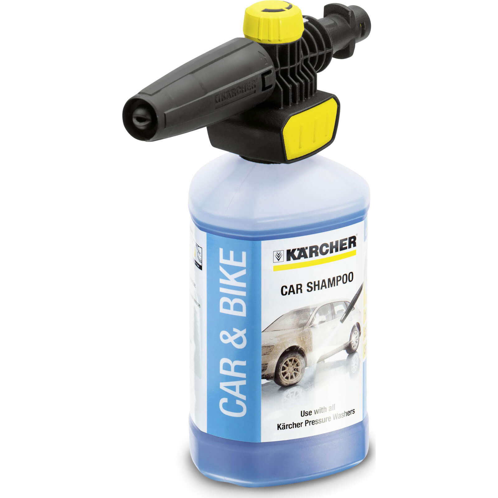 Karcher Plug n Clean Foam Nozzle with Car Shampoo for K Series Pressure Washers 1l