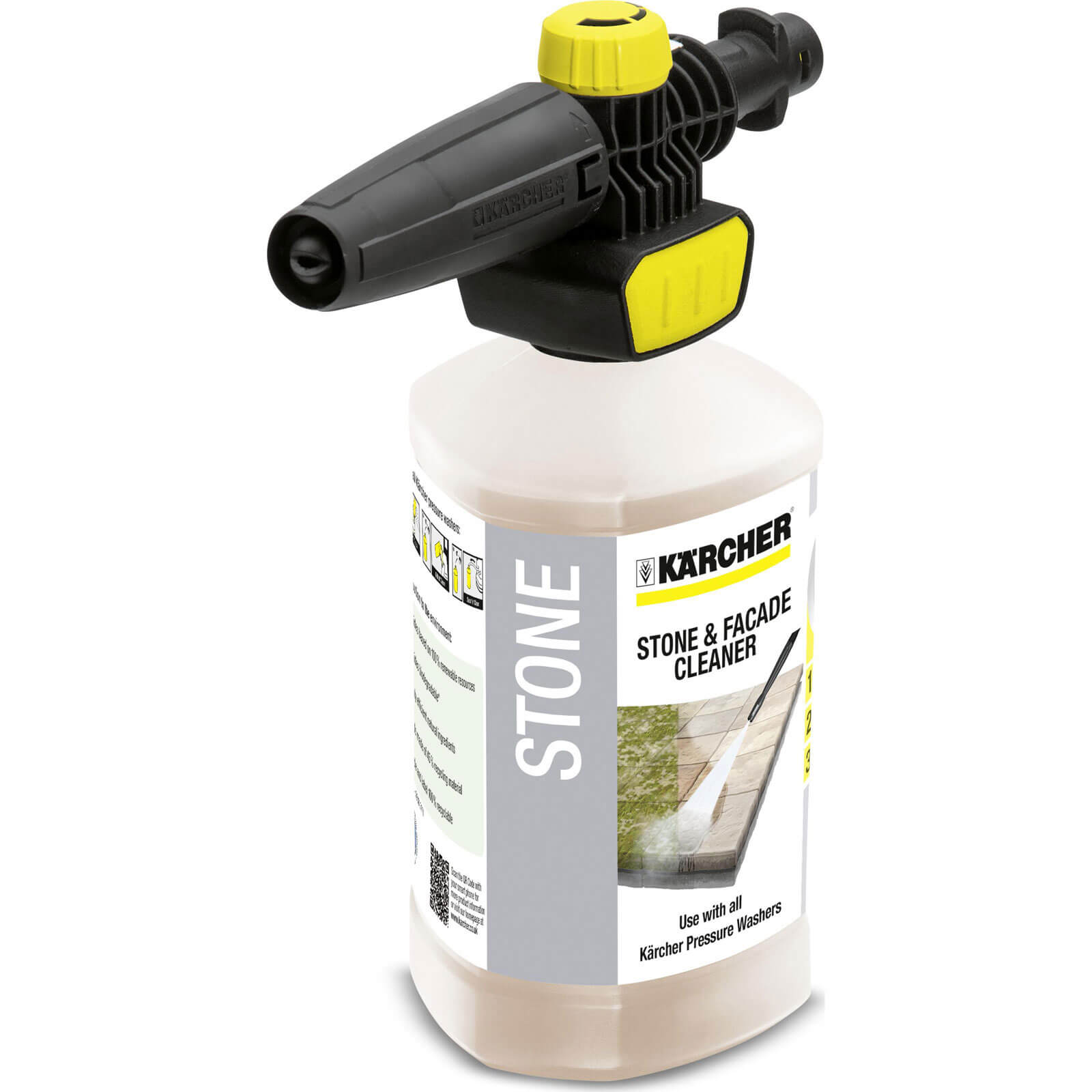 Karcher Plug n Clean Foam Nozzle with Stone Cleaner for K Pressure Washers 1l