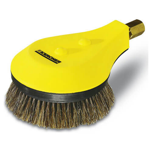Karcher Basic Natural Bristle Rotating Wash Brush for HD & XPERT Pressure Washers