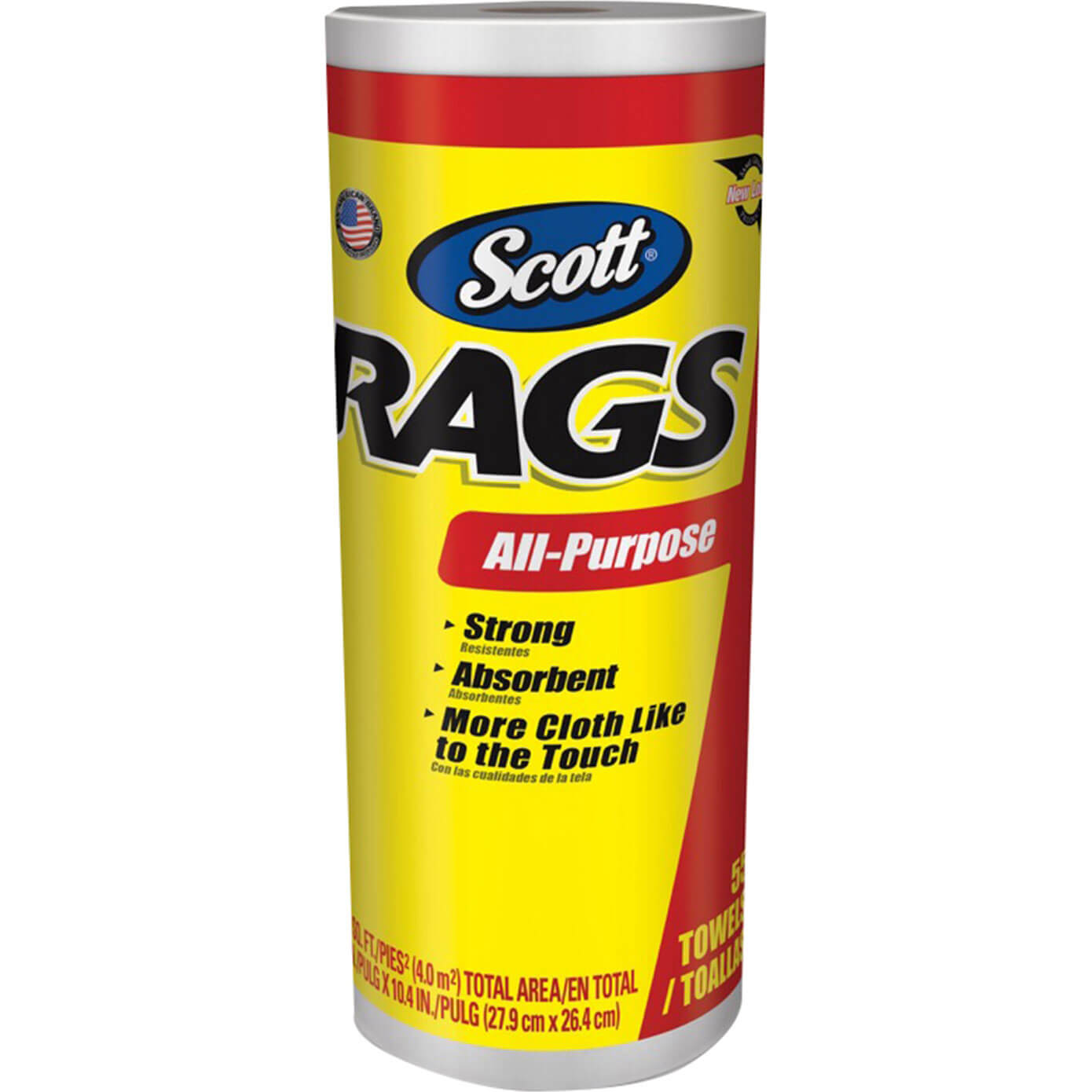 Image of Scott Strong Absorbent Rags On A Roll