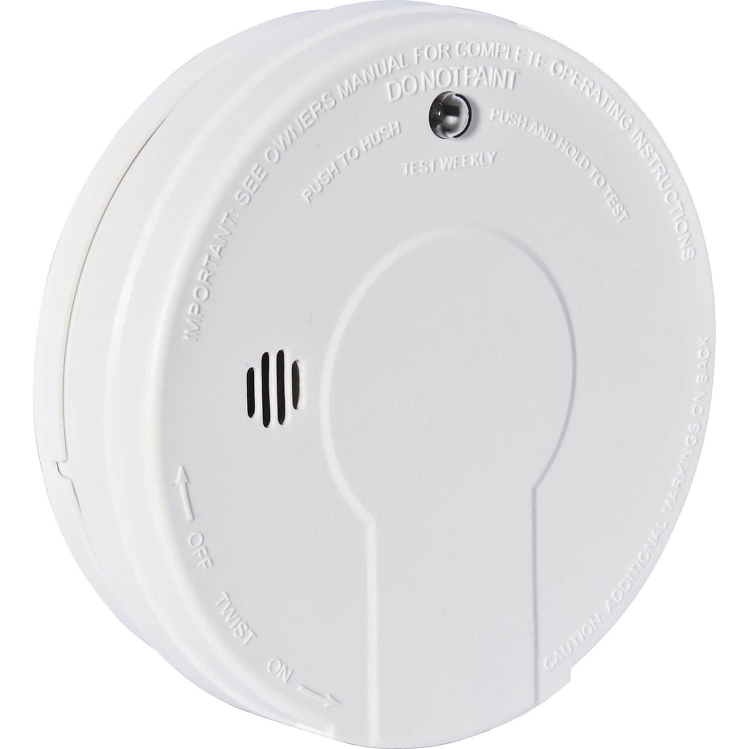 Kidde Battery Smoke Alarm for Living Areas Hush & Test Button
