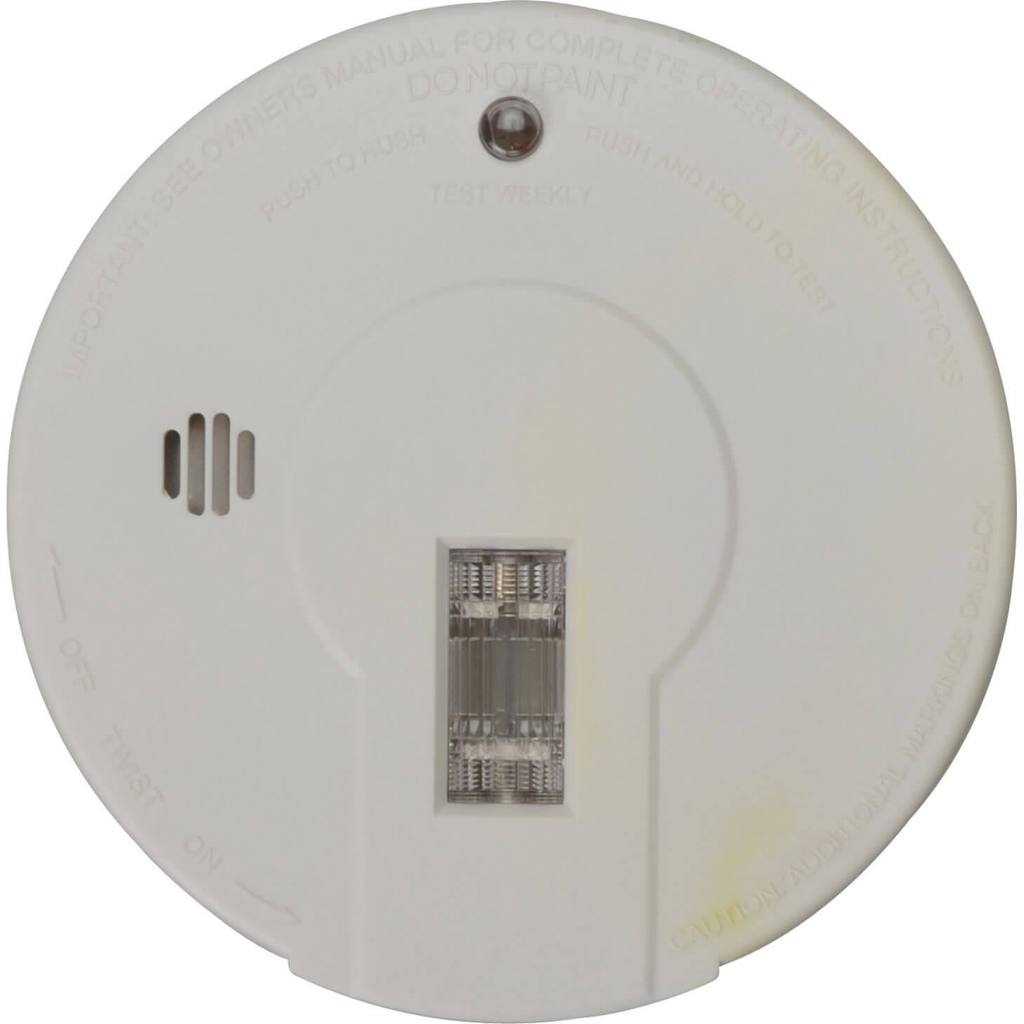 Kidde Battery Smoke Alarm for Hallways Hush & Test Button