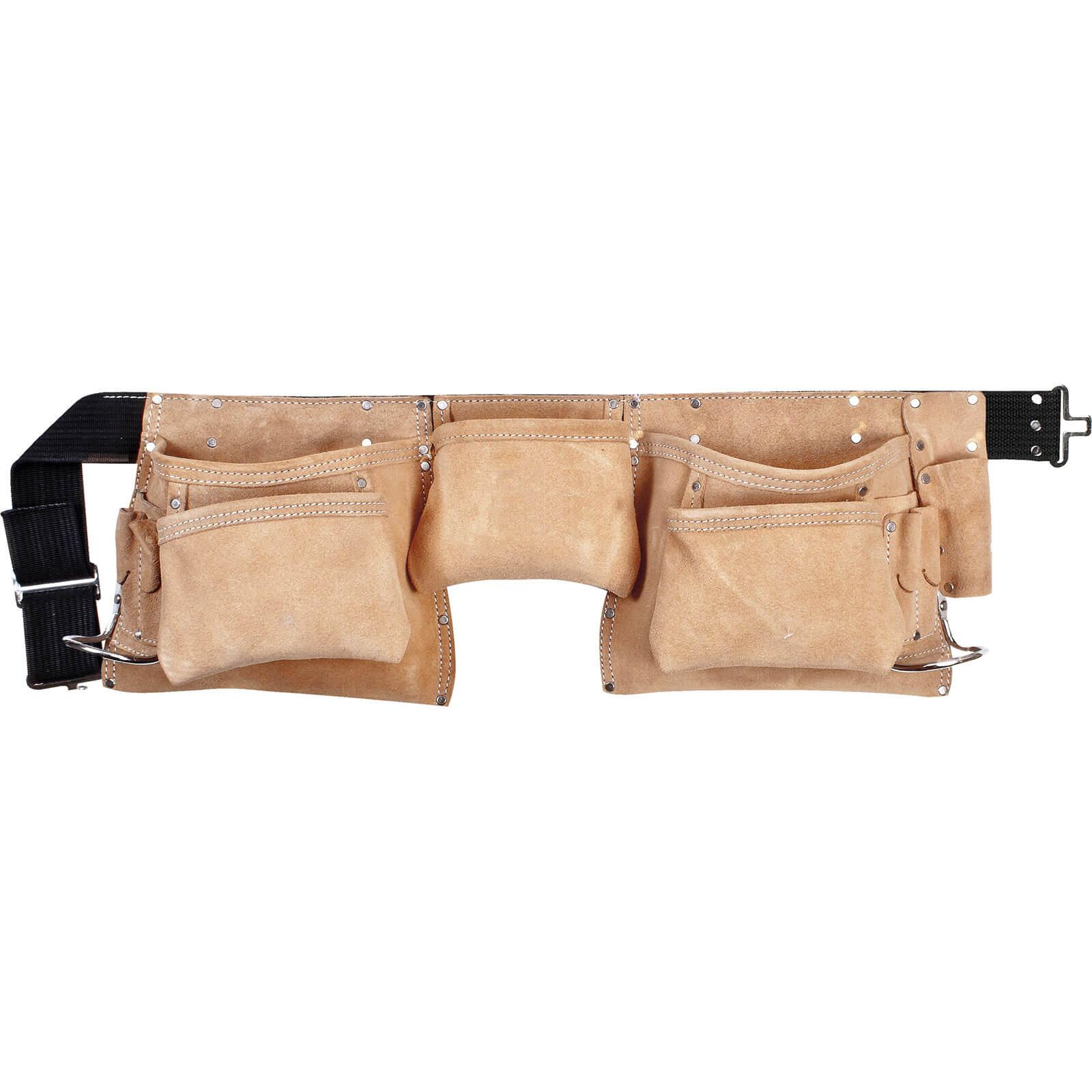 Kunys 11 Pocket Carpenters Leather Tool Belt Fits