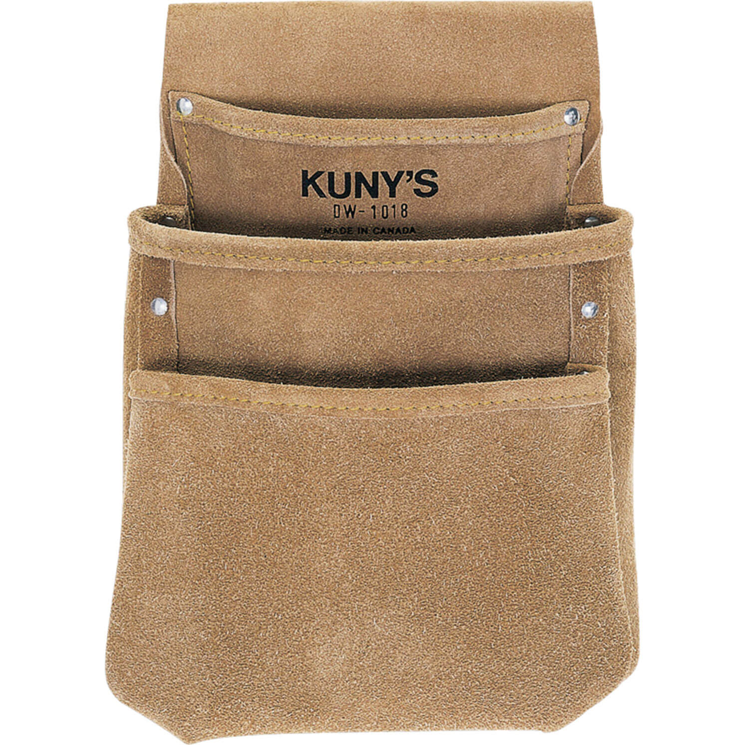 Image of Kunys 3 Pocket Split Grain Leather Drywall Pouch