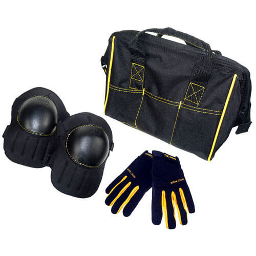 Kunys Tool Bag Knee Pads & Work Gloves Set