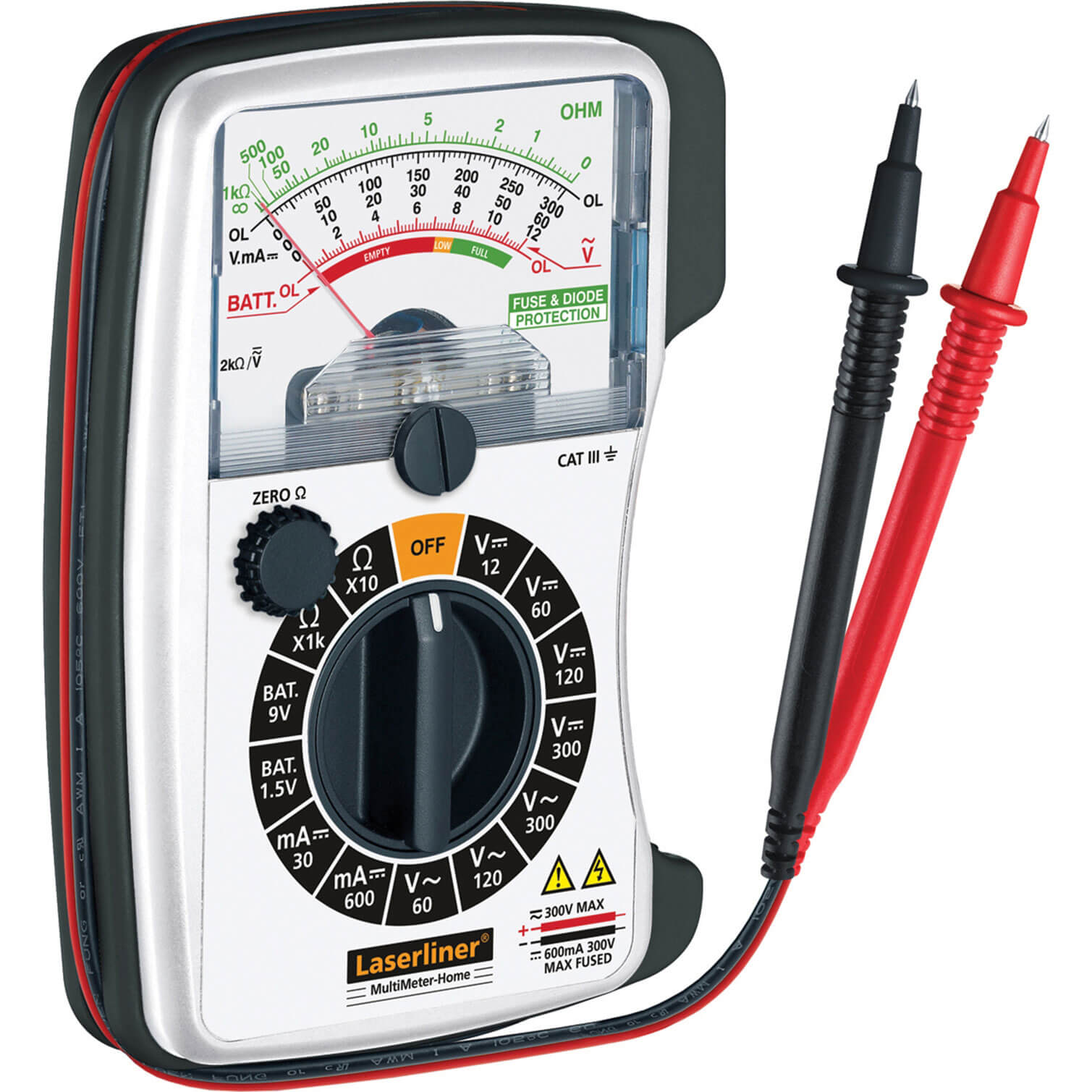 Image of LaserLiner Multimeter Analogue AC / DC Voltage Tester