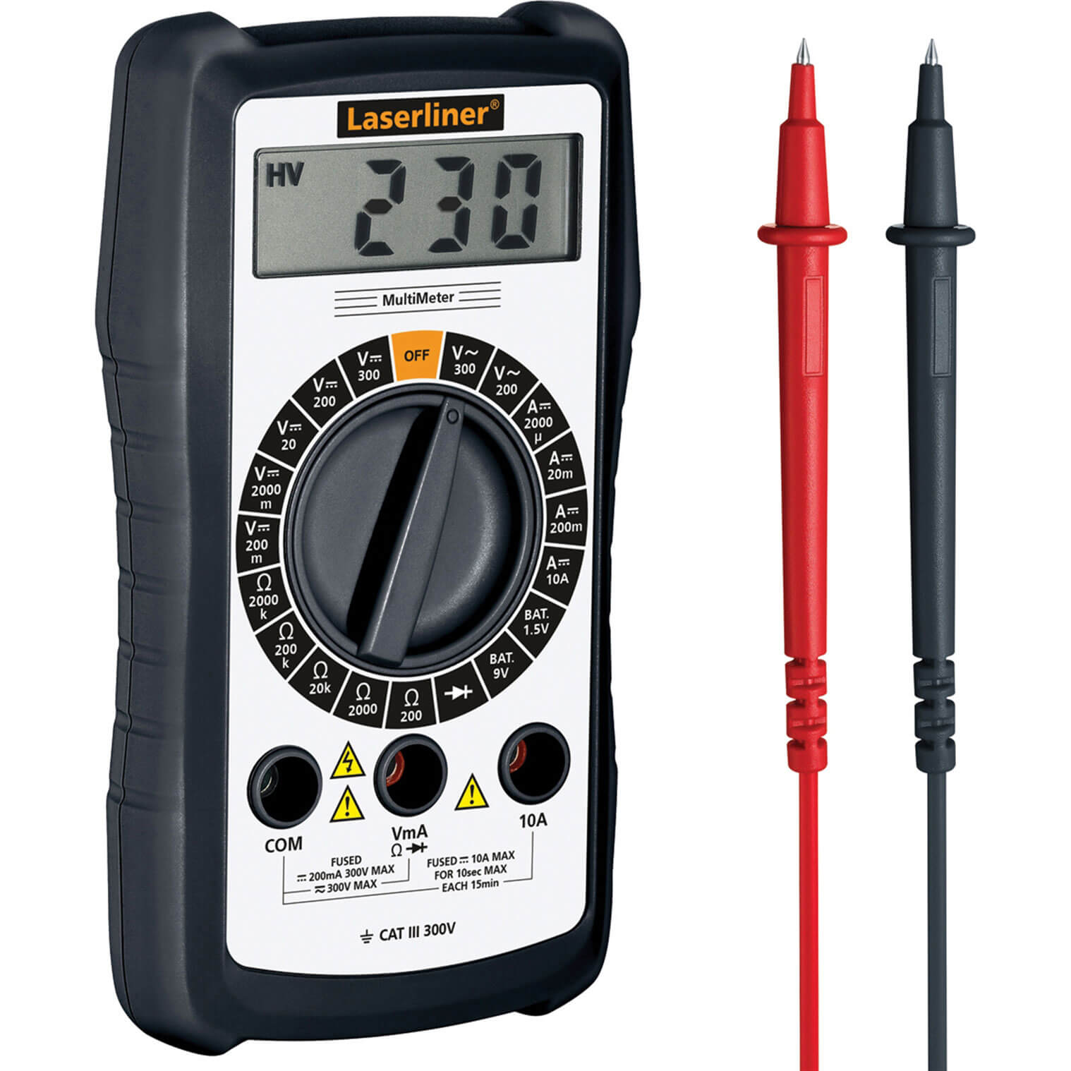 Image of LaserLiner Multimeter Digital AC / DC Voltage Tester