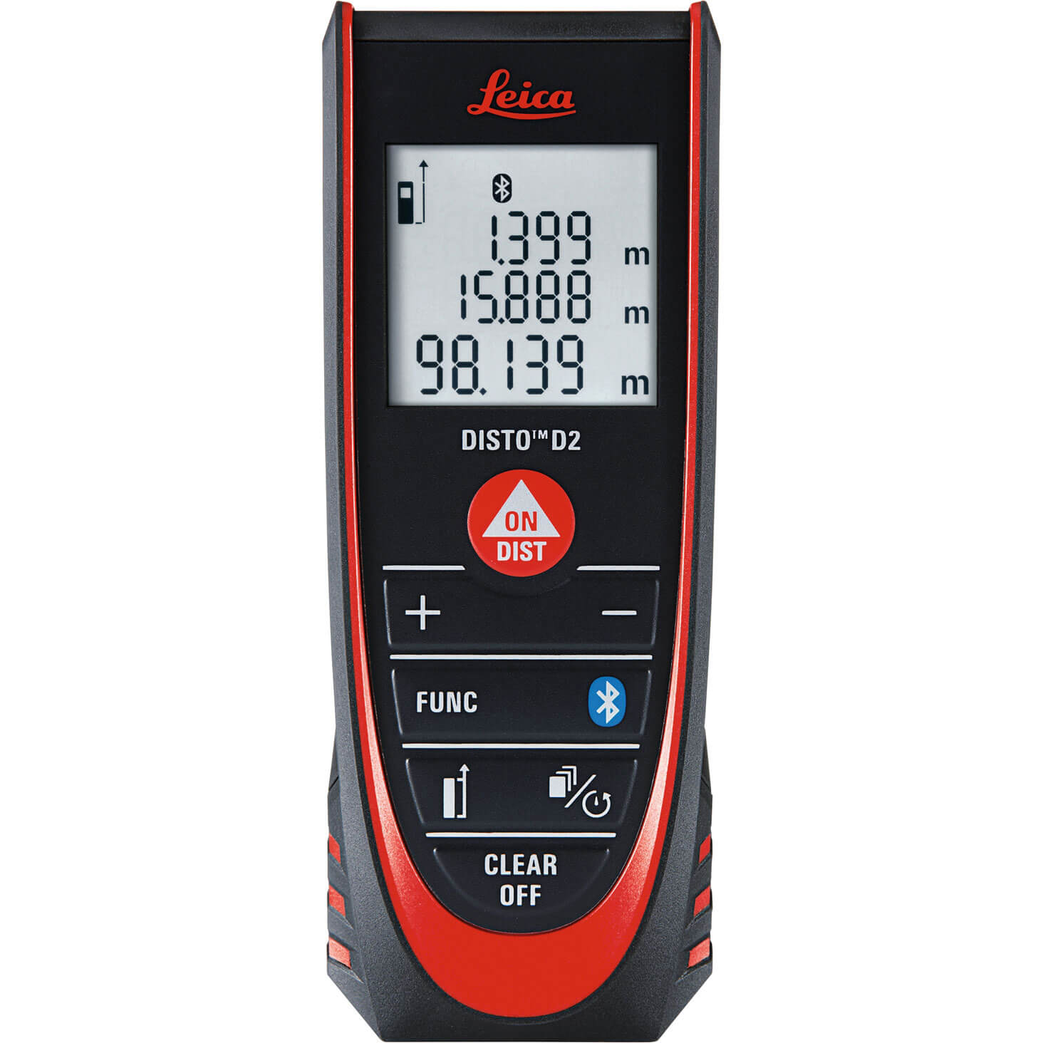 Image of Leica Geosystems Disto D2 Bluetooth Laser Distance Measure 100m / 328ft