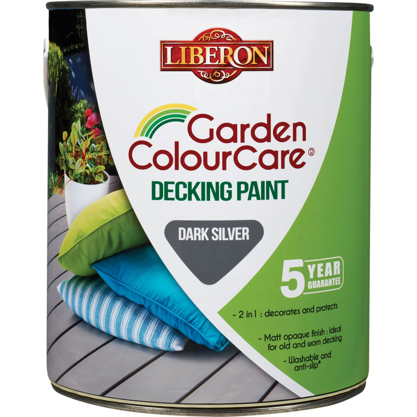 Image of Liberon Decking Paint Dark Silver 2.5l
