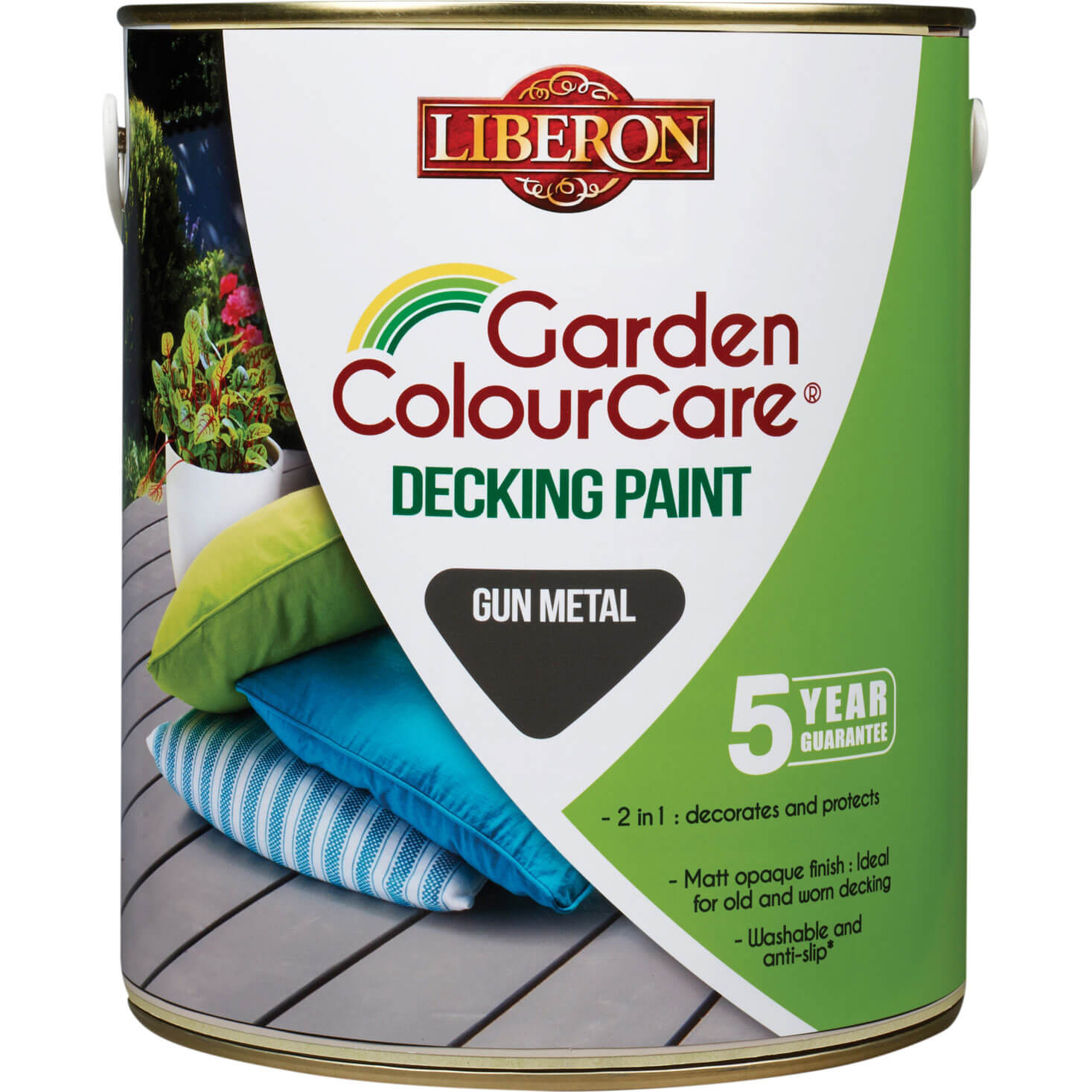 Liberon Decking Paint Gun Metal 2.5l