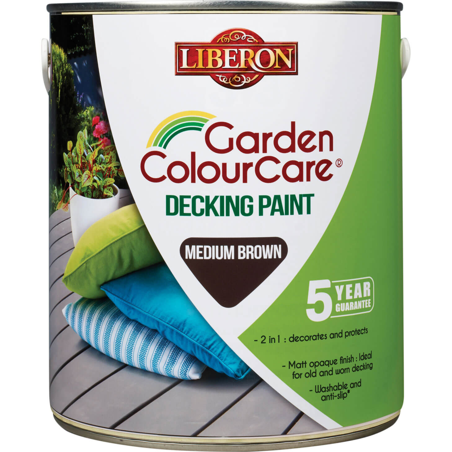Image of Liberon Decking Paint Mid Brown 2.5l