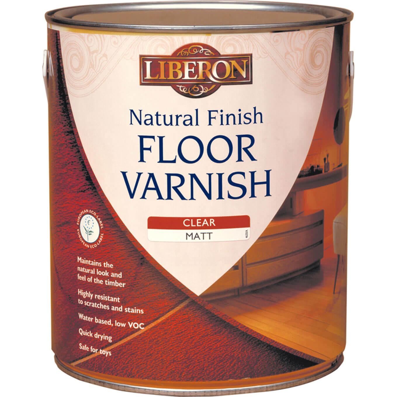 Image of Liberon Natural Finish Floor Varnish 2.5l Clear Matt