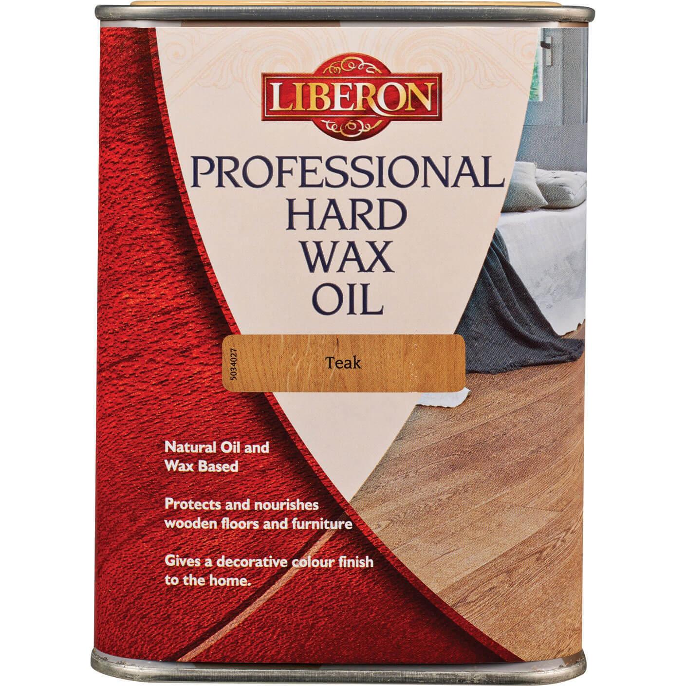 Liberon Professional Hard Wax Oil 1l Teak