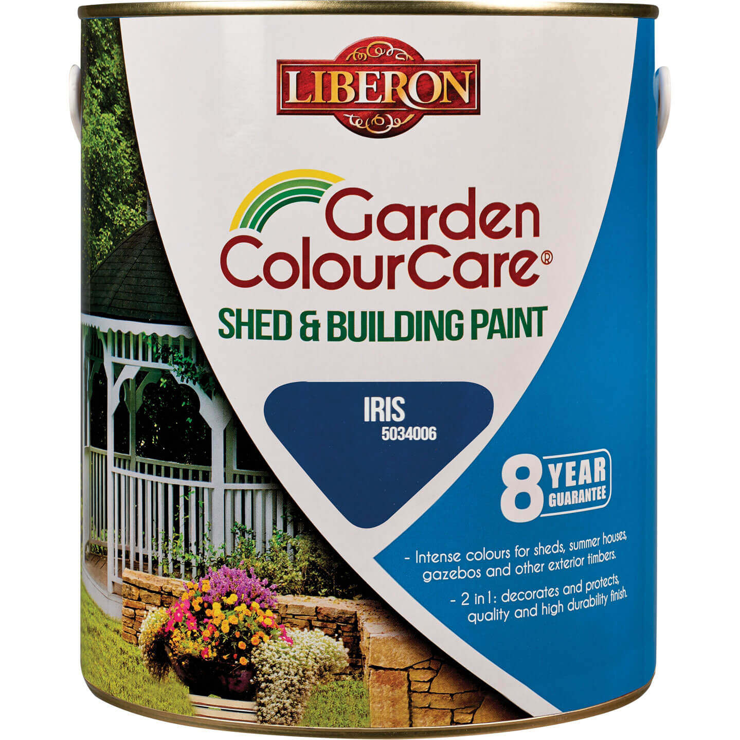 Liberon Shed & Building Exterior Paint Iris 2.5l