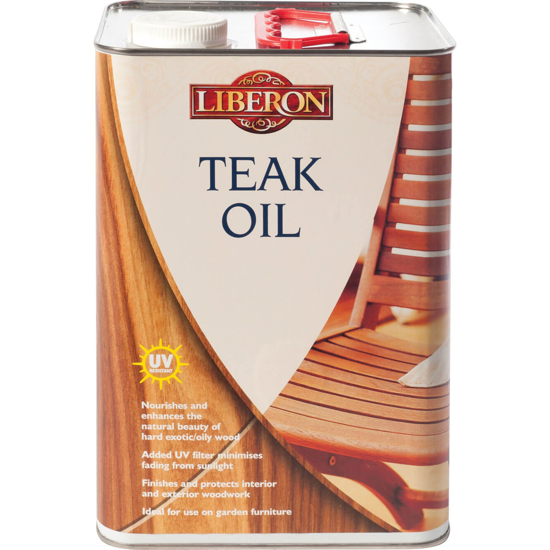 Liberon Teak Oil With UV 5l