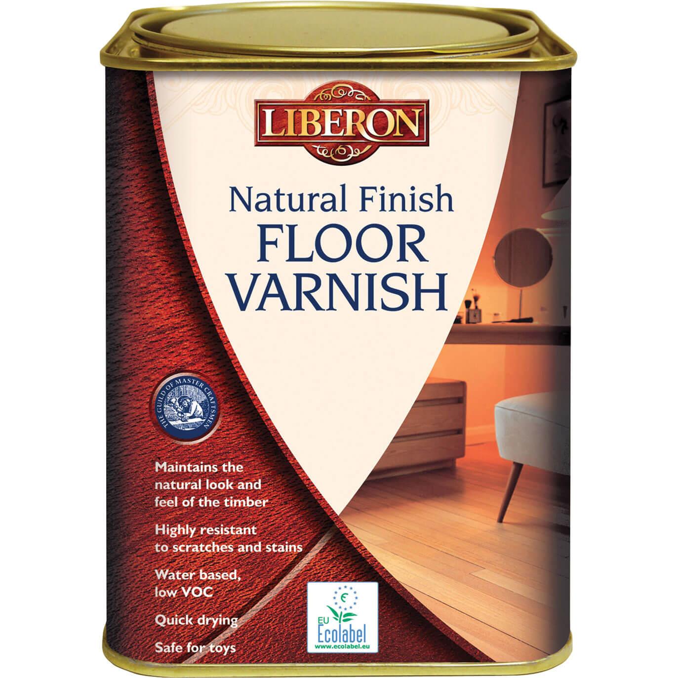 Image of Liberon Natural Finish Floor Varnish 1l Clear Matt