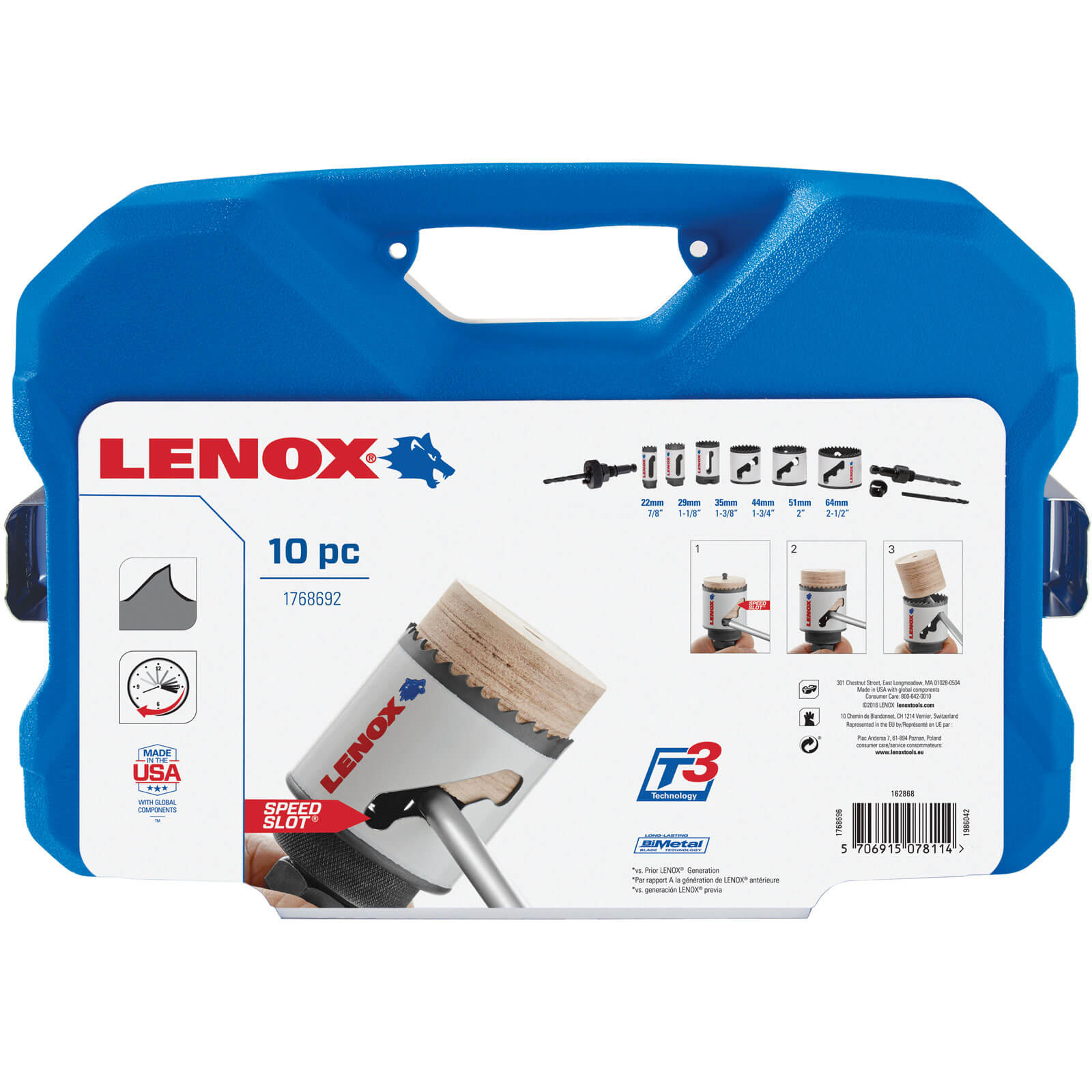Image of Lenox 10 Piece Electricians Hole Saw Set