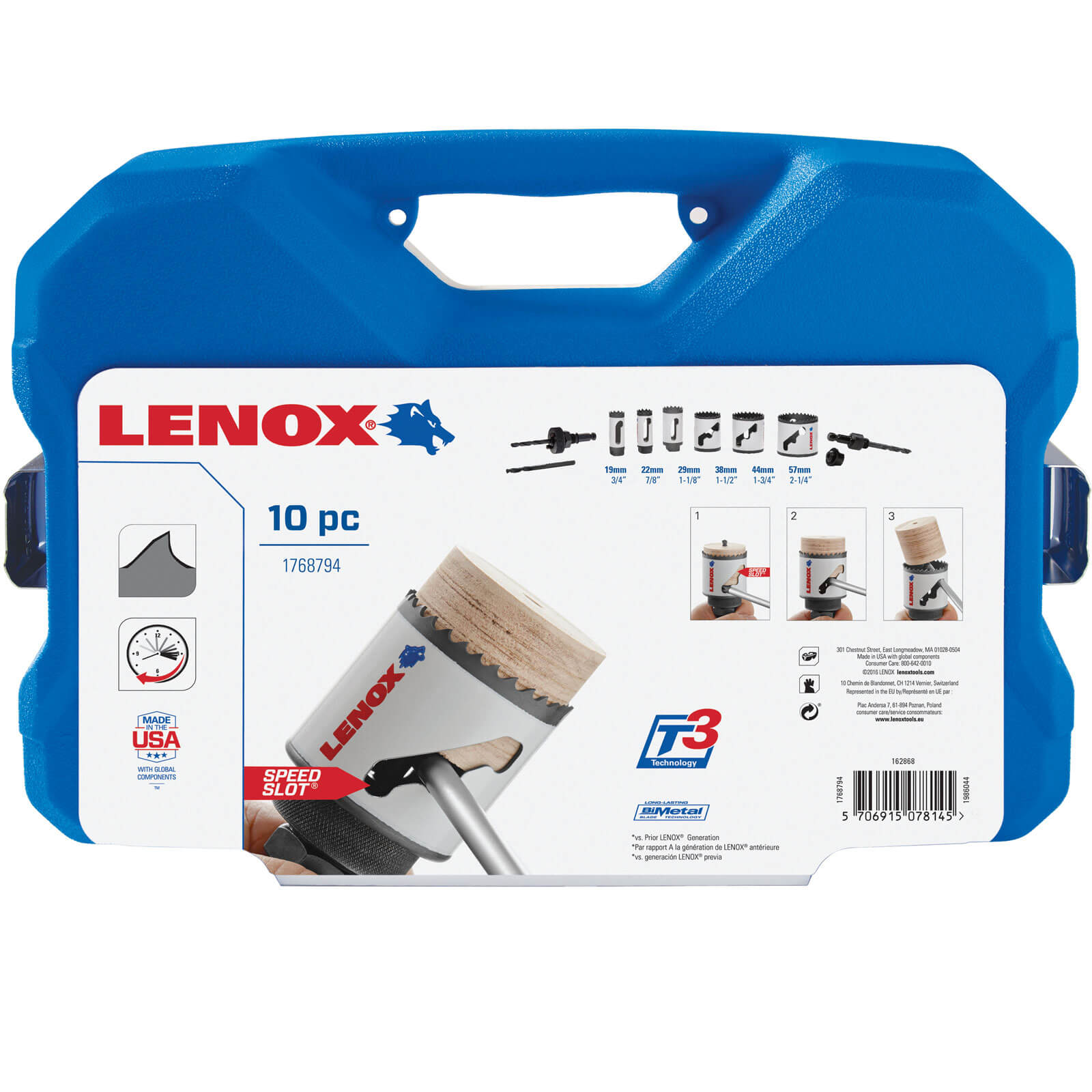 Image of Lenox 10 Piece Plumbers Hole Saw Set