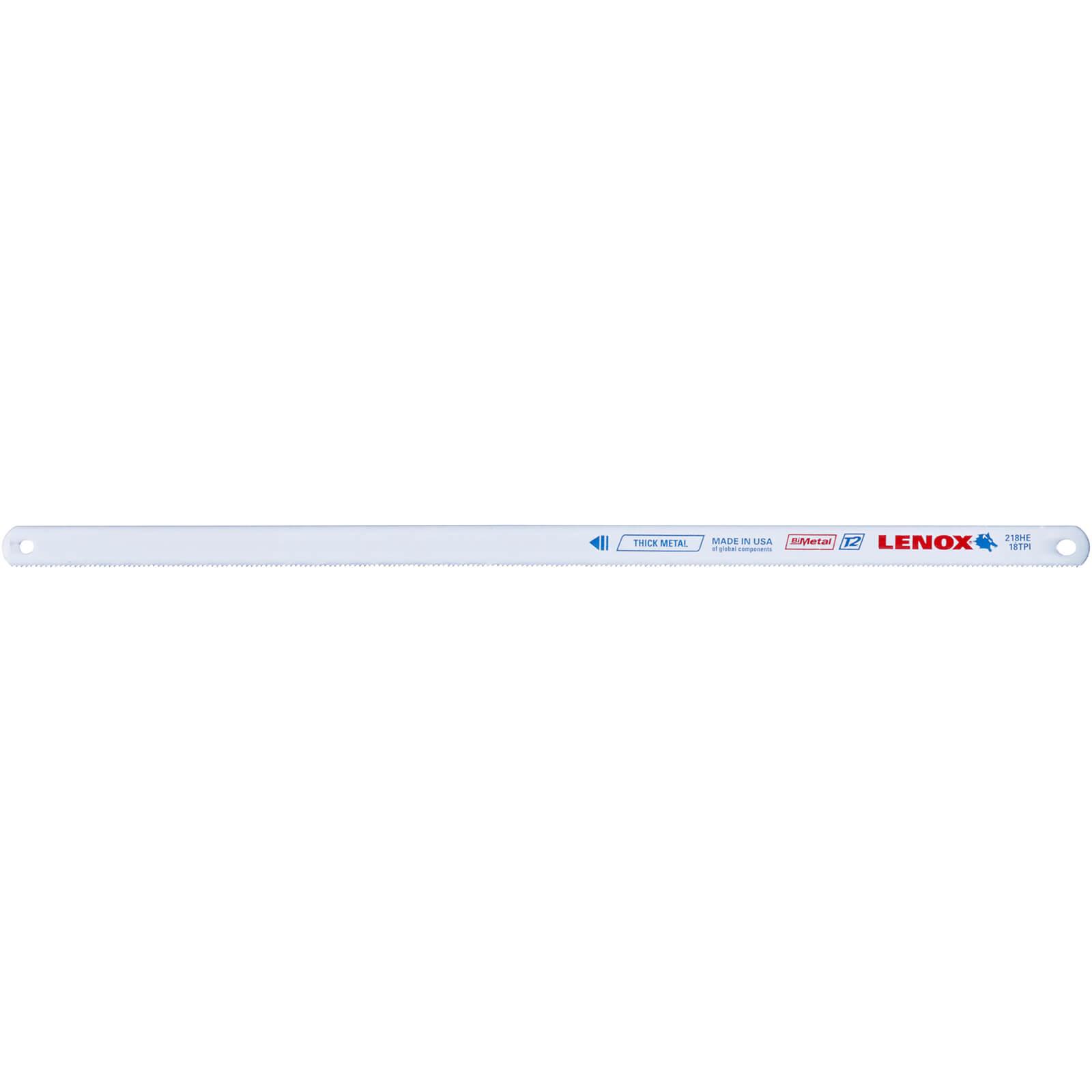 "Lenox Bi Metal Hacksaw Blades 12"" / 300mm 18tpi Pack of 100"